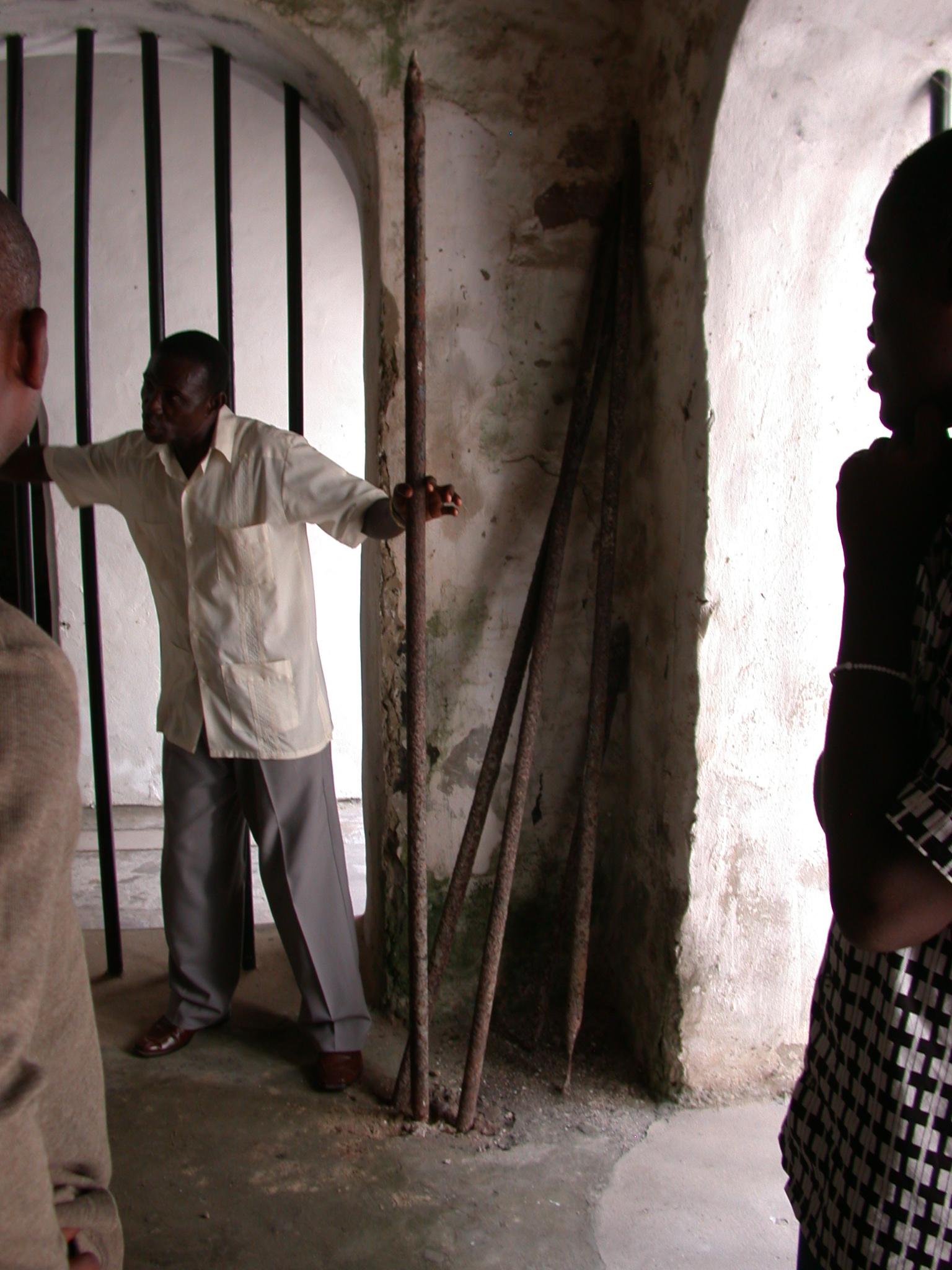 Original Bars on Slave Cells, Elmina Slave Fort, Elmina, Ghana