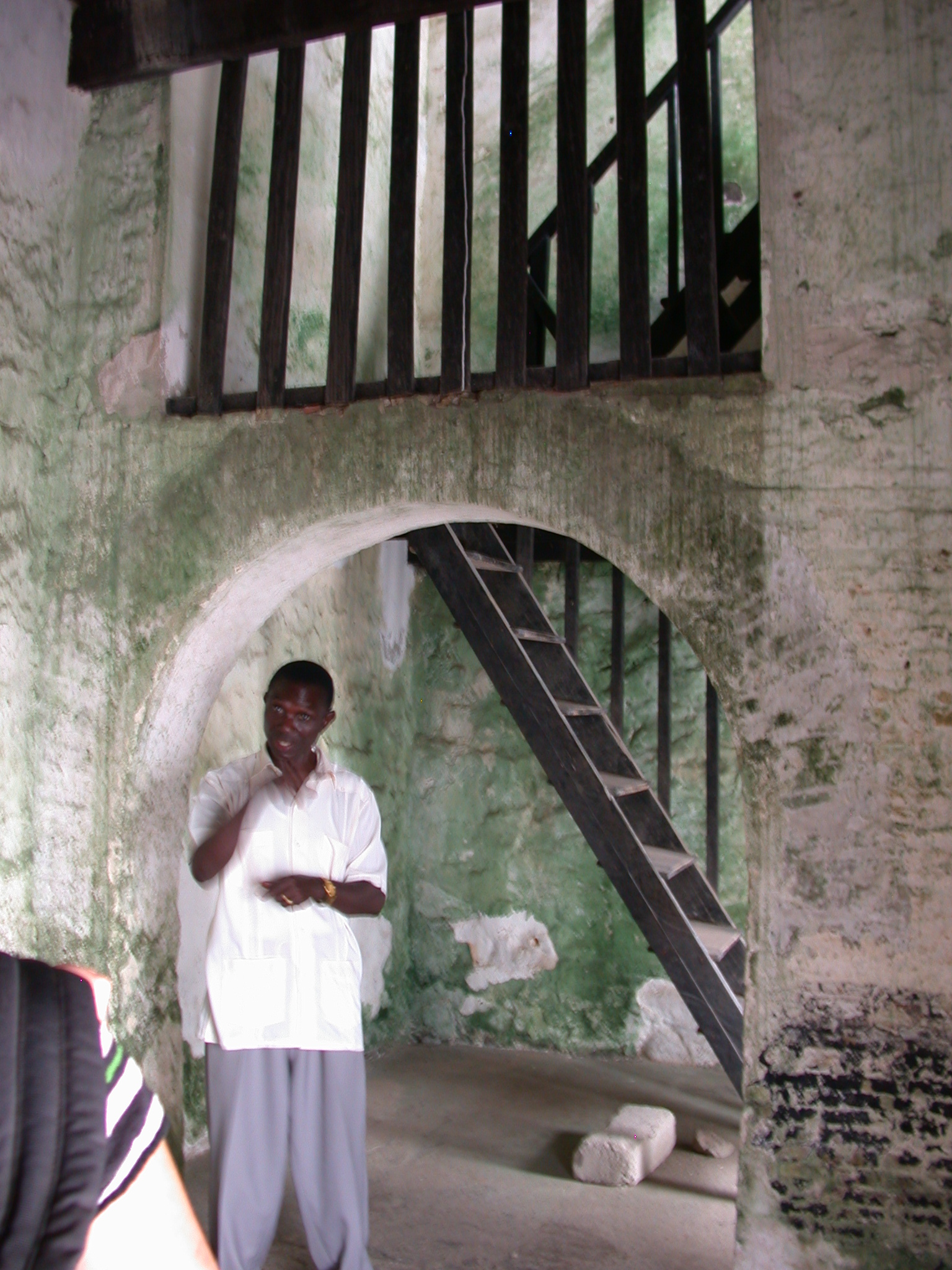 Stairs From Courtyard to Wardens Lookout, Elmina Slave Fort, Elmina, Ghana