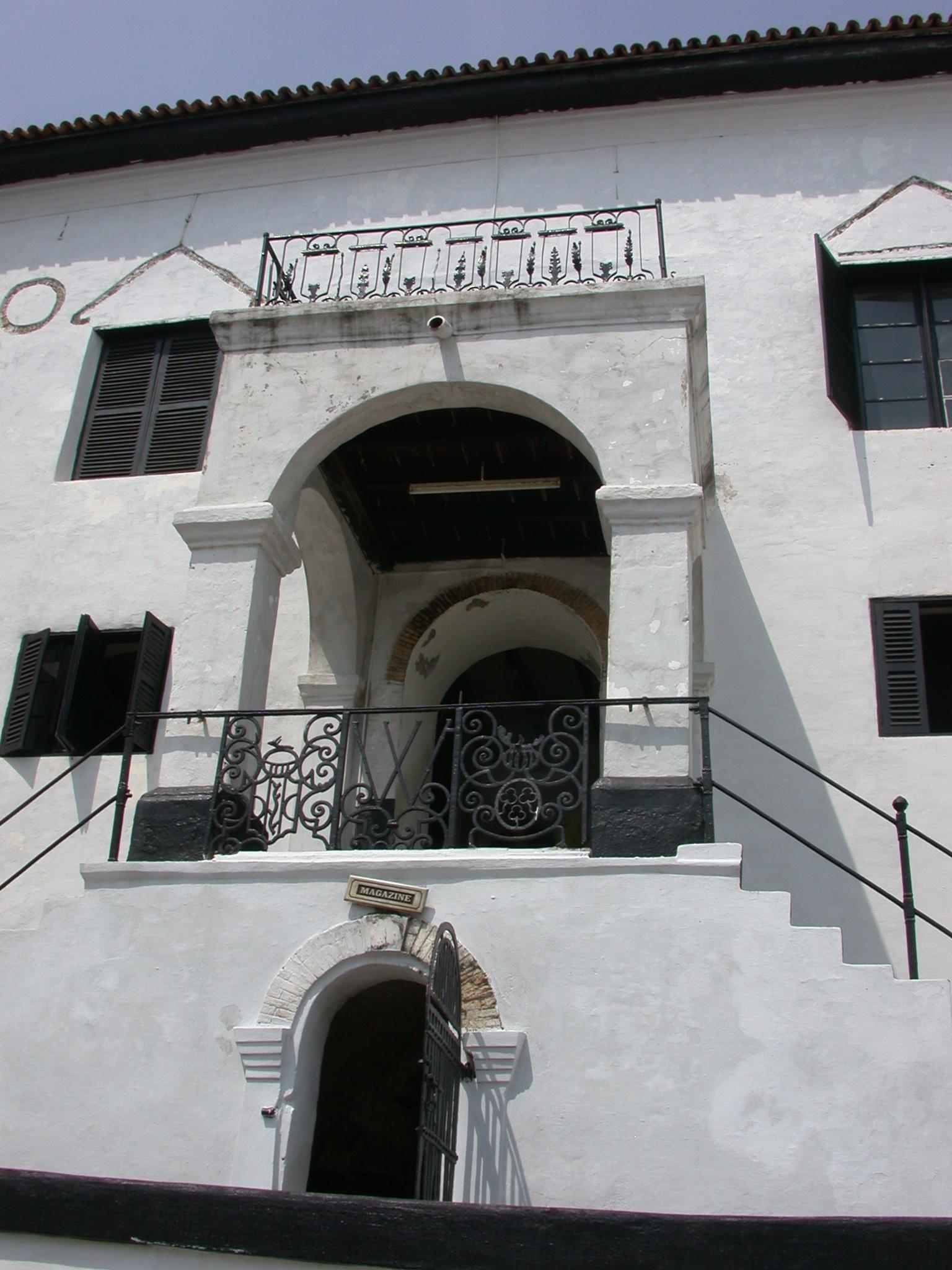 Courtyard Entrance Above Magazine, Elmina Slave Fort, Elmina, Ghana