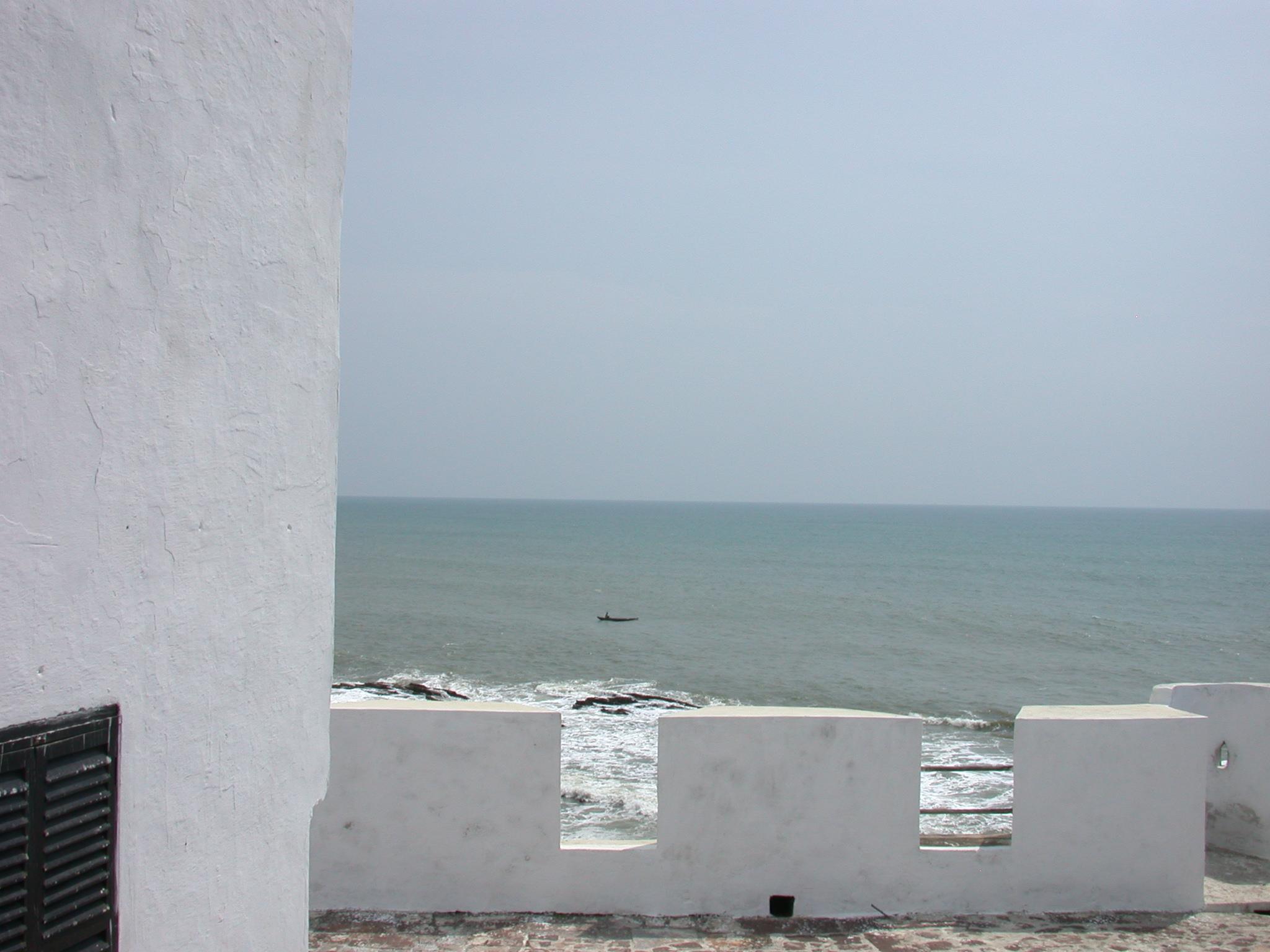 Sea View From Upper Level Roof Terrace, Elmina Slave Fort, Elmina, Ghana