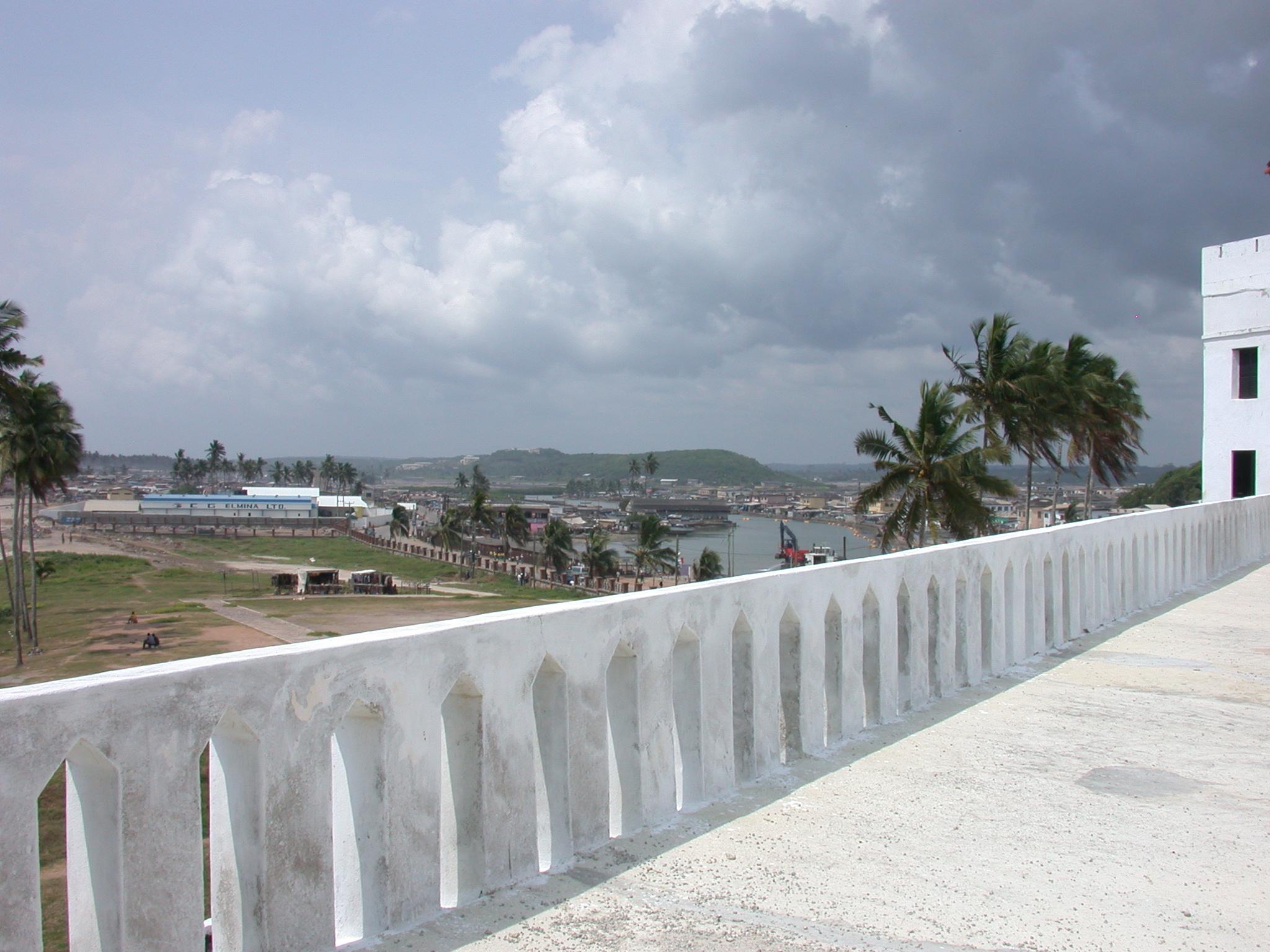 Inland View From Upper Level Roof Terrace, Elmina Slave Fort, Elmina, Ghana