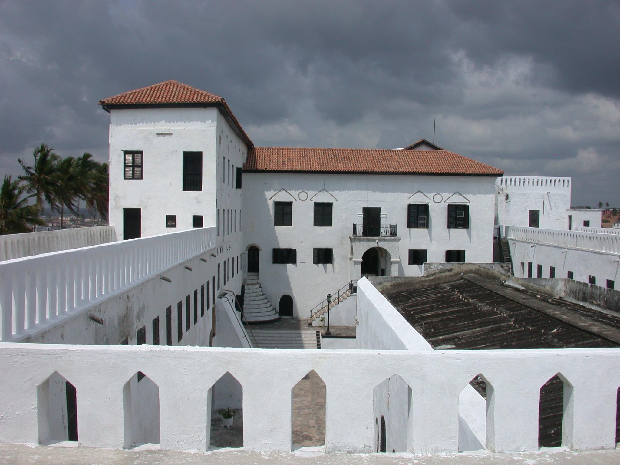 Interior Courtyard View From Upper Level Roof Terrace, Elmina Slave Fort, Elmina, Ghana