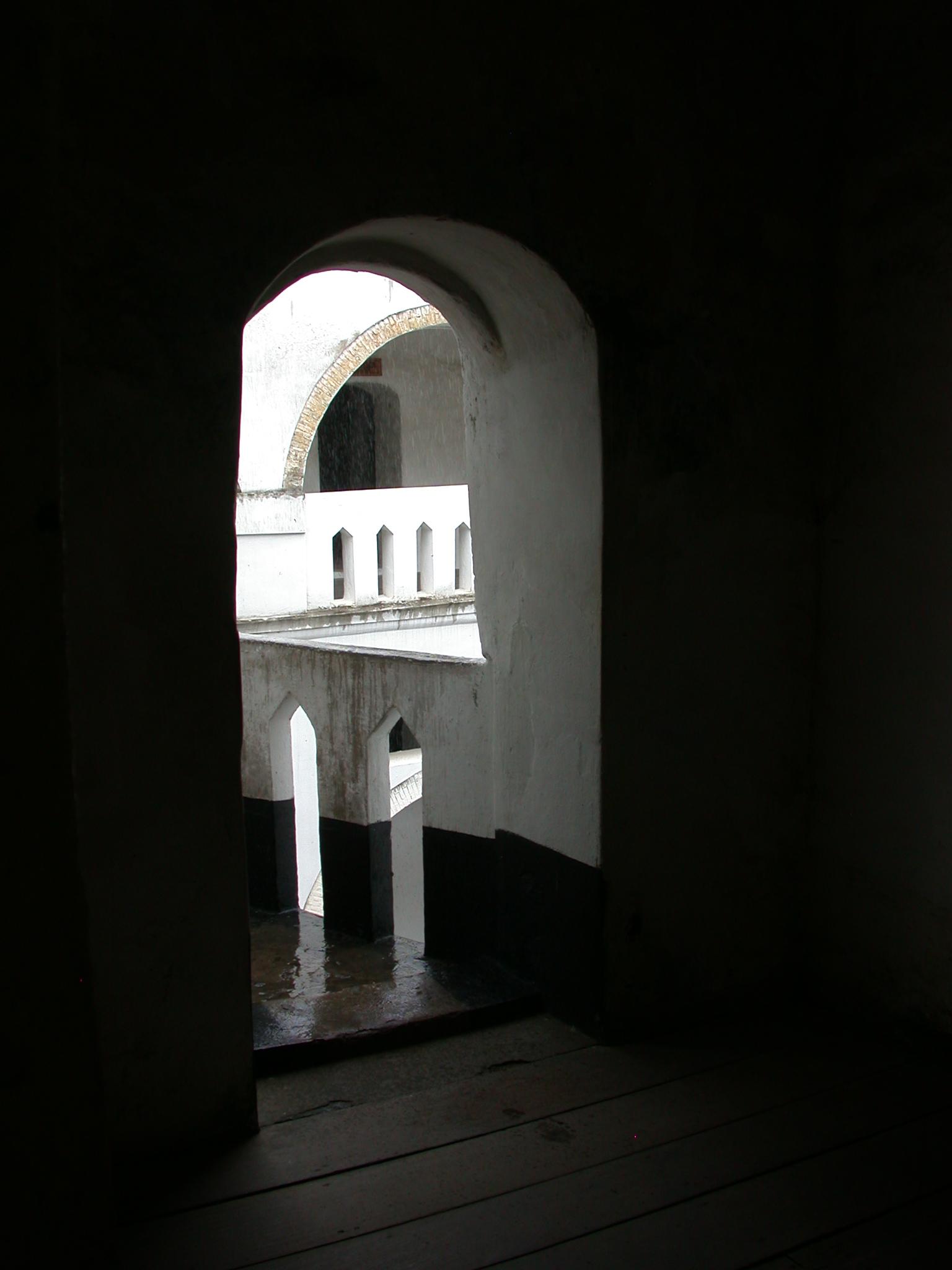 View on Upper Level, Elmina Slave Fort, Elmina, Ghana