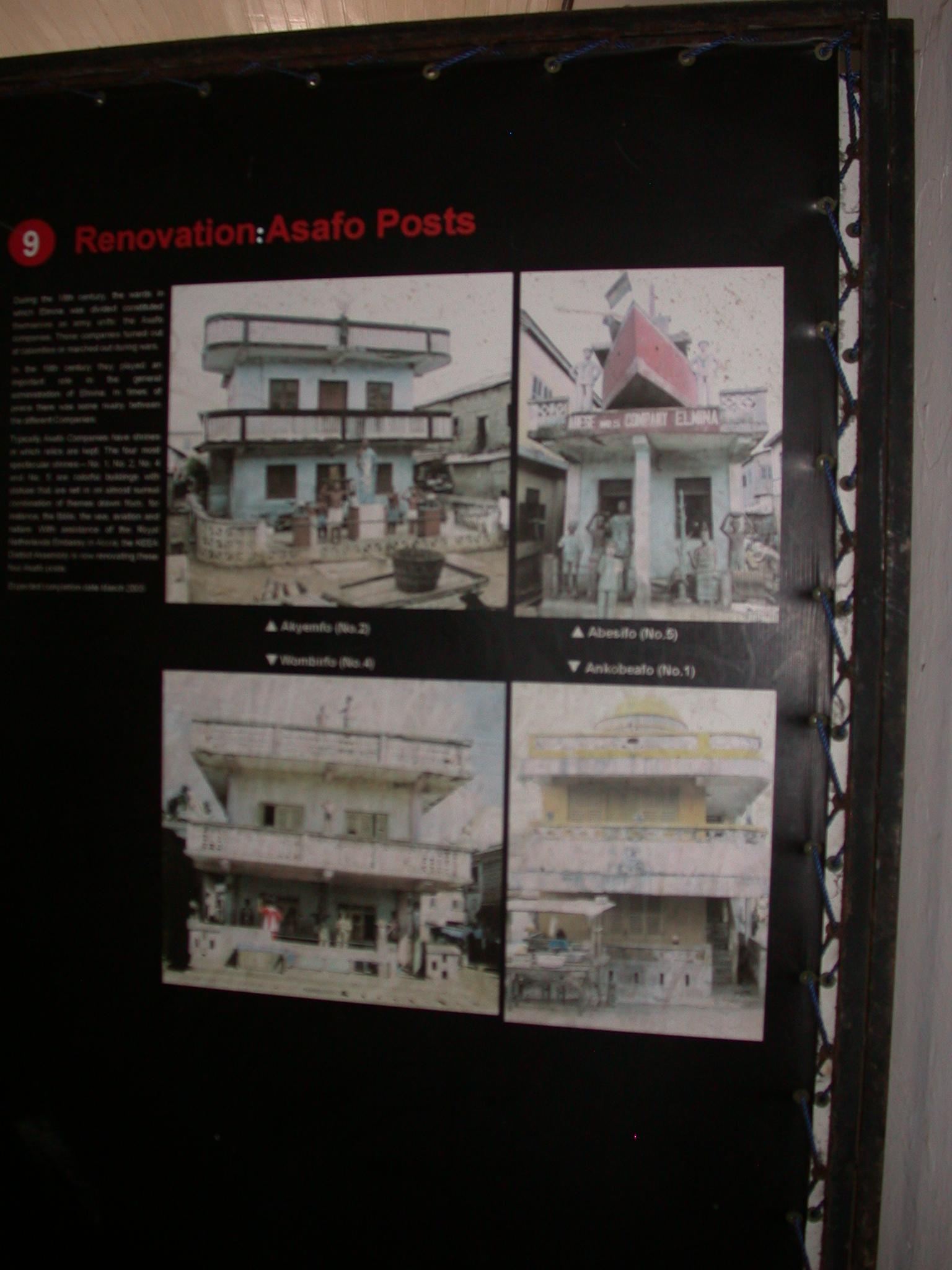 Renovation of Asafo Shrines, Elmina Slave Fort Exhibit, Elmina, Ghana