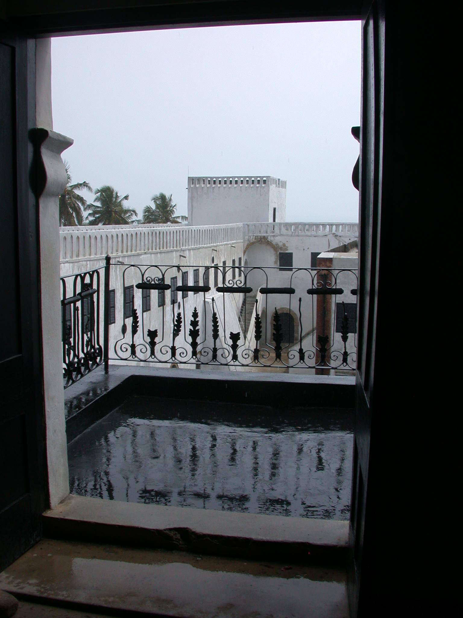 View Onto Balcony, Elmina Slave Fort, Elmina, Ghana