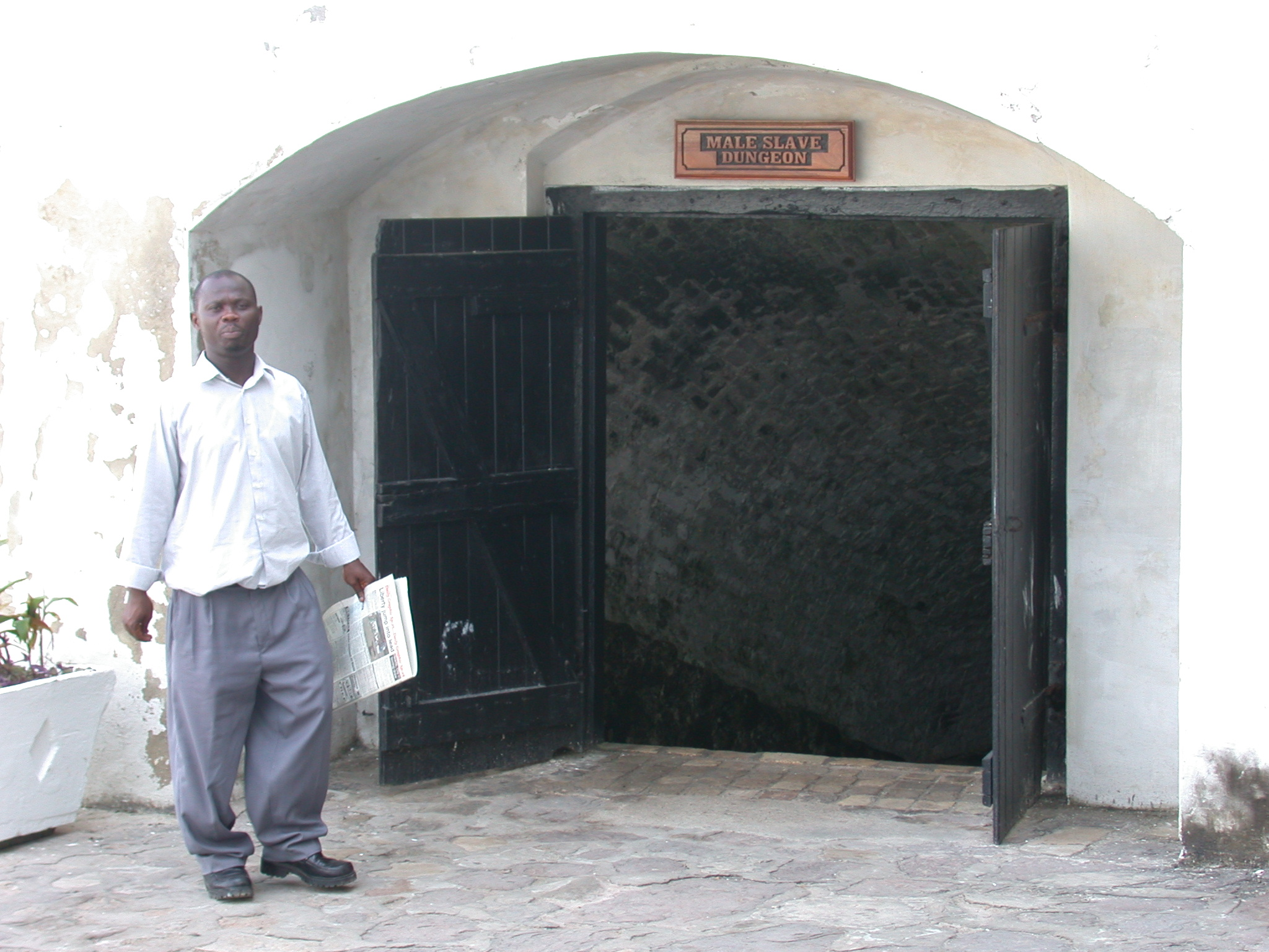 Entrance to Male Slave Dungeon, Cape Coast Slave Fort, Cape Coast, Ghana