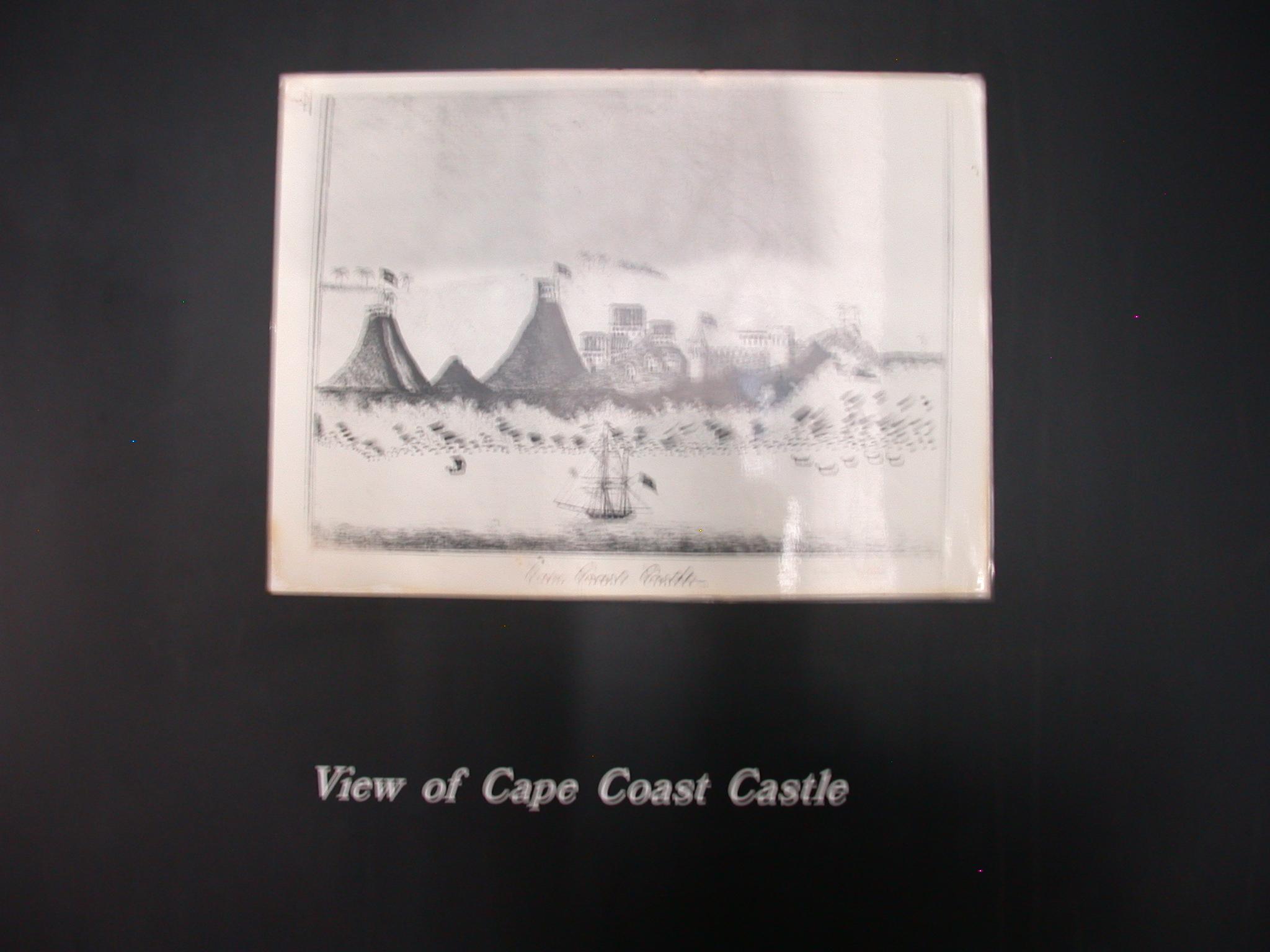 View of Cape Coast Castle, Cape Coast Slave Fort Museum, Cape Coast, Ghana