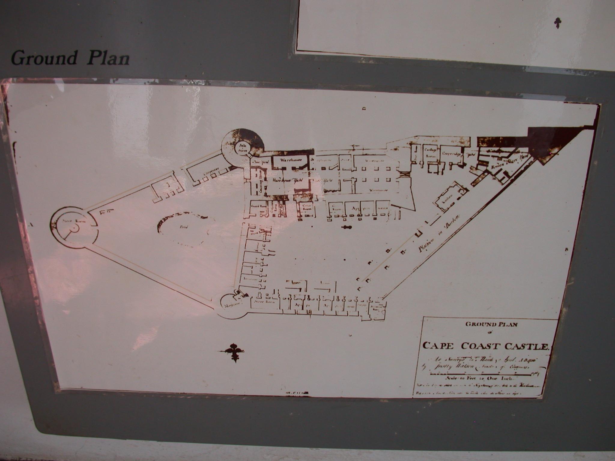 Cape Coast Ground Plan, Cape Coast Slave Fort Museum, Cape Coast, Ghana