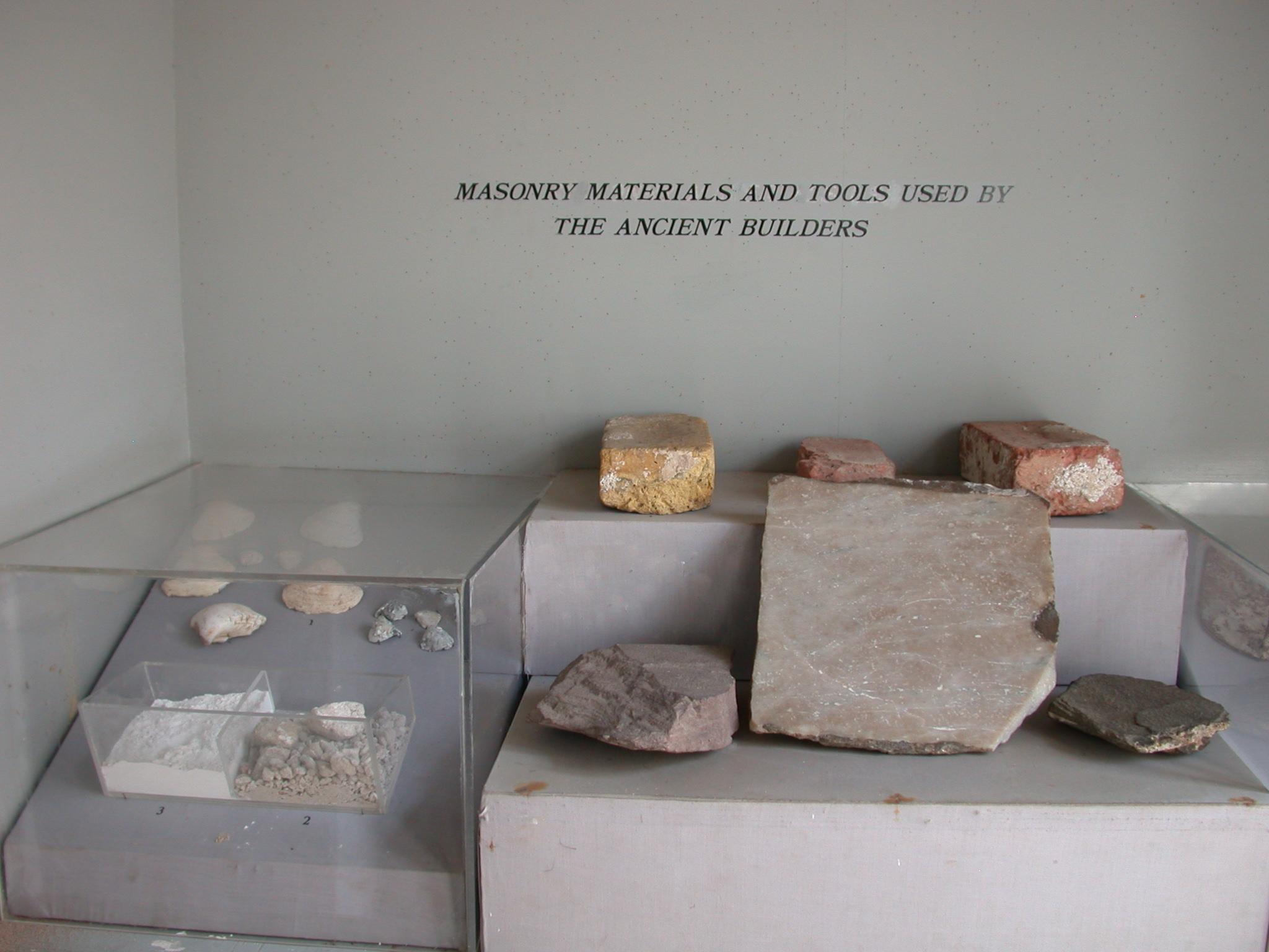 Ancient Masonry Materials, Cape Coast Slave Fort Museum, Cape Coast, Ghana