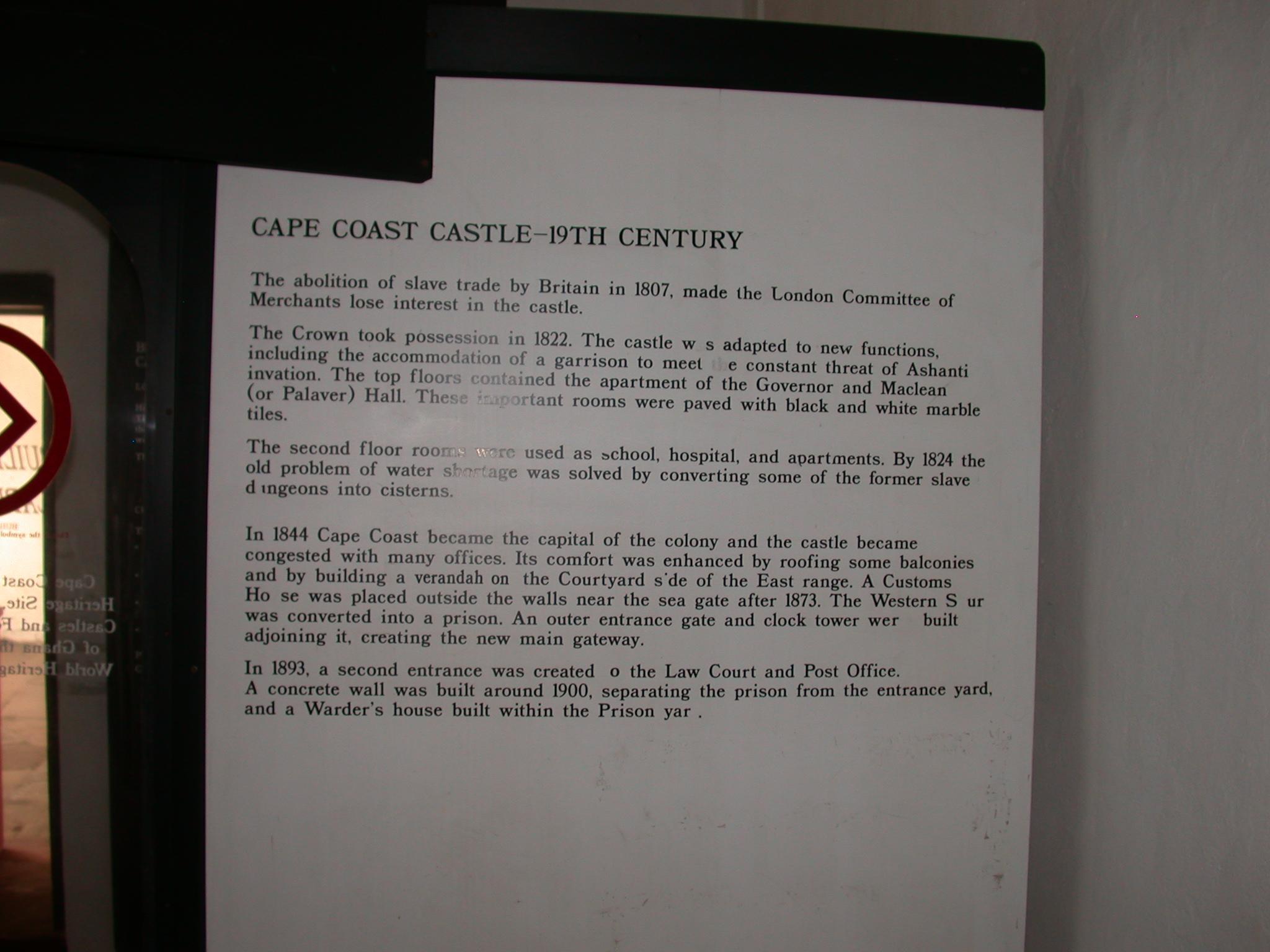 Cape Coast History Description, Cape Coast Slave Fort Museum, Cape Coast, Ghana
