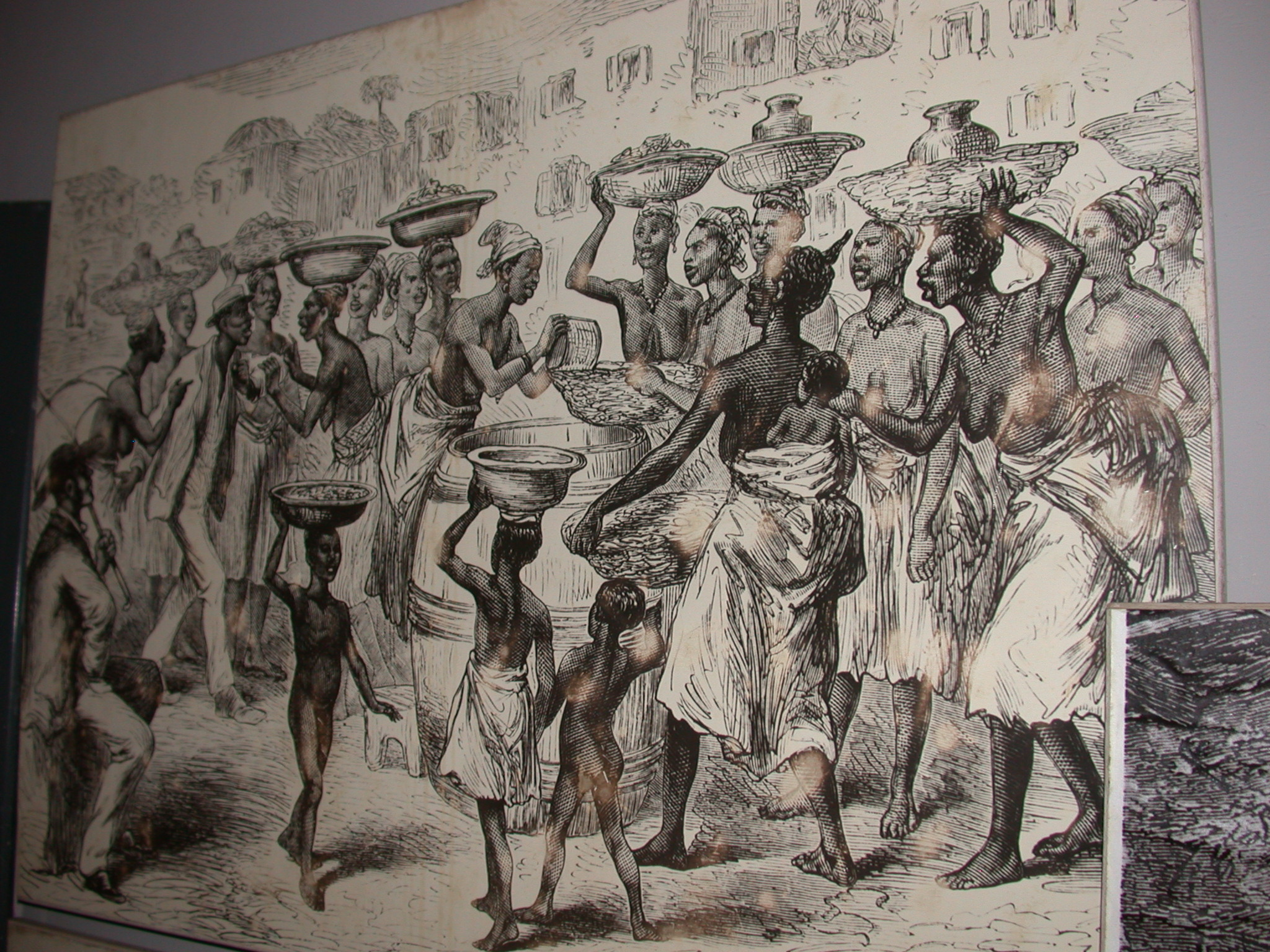 Ghana Trading Drawing, Cape Coast Slave Fort Museum, Cape Coast, Ghana