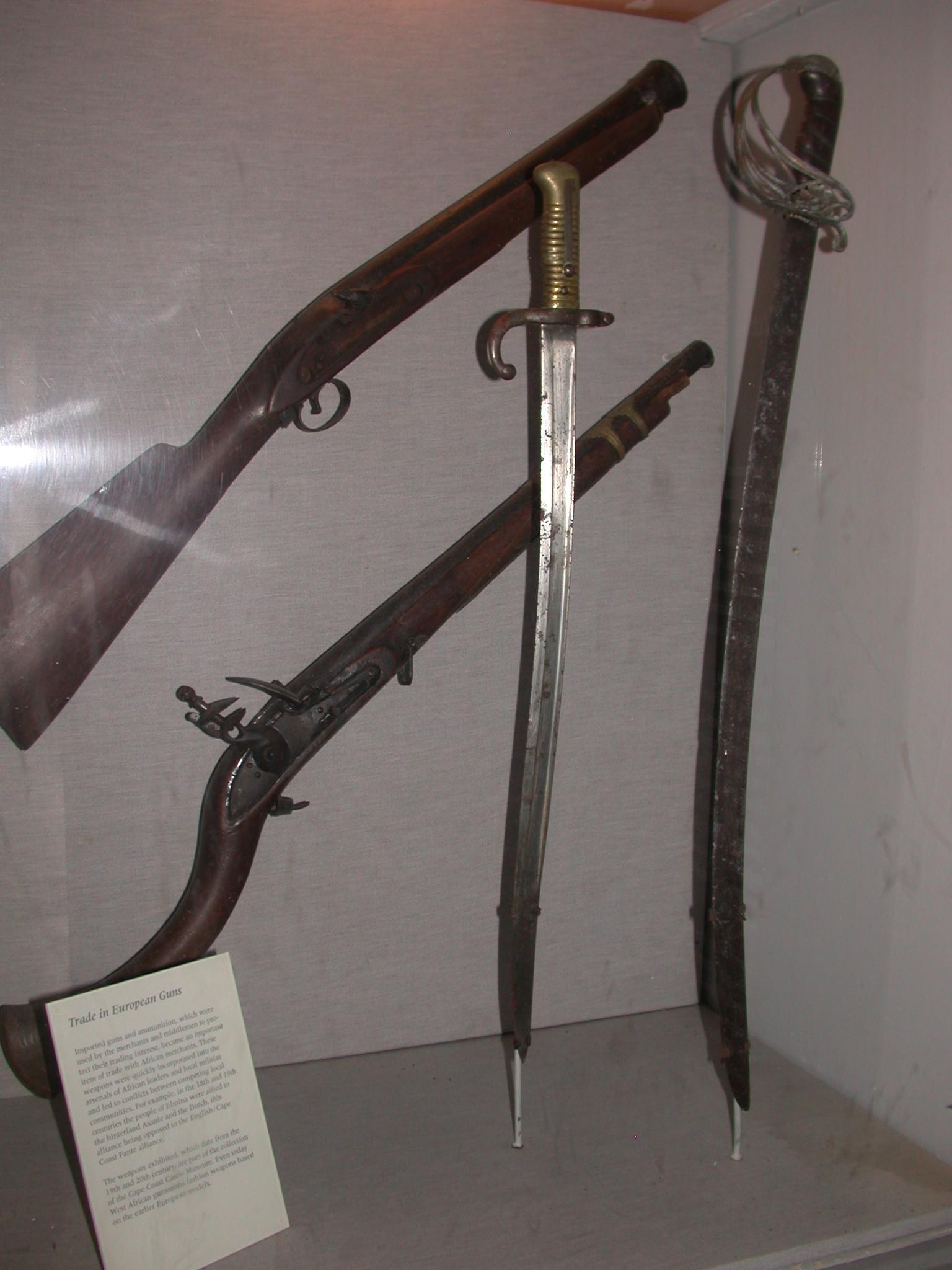European Weapons in Ghana, Cape Coast Slave Fort Museum, Cape Coast, Ghana
