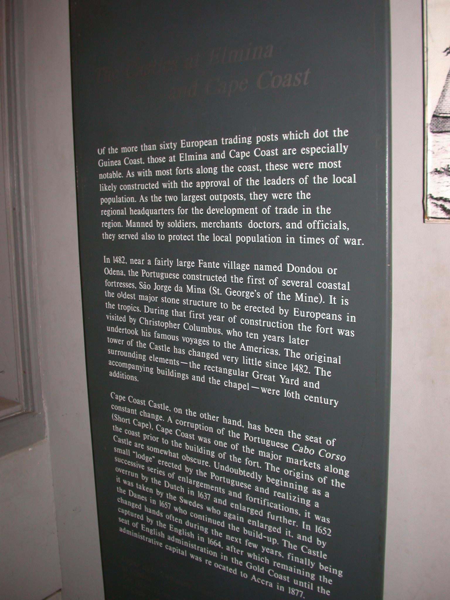 Cape Coast and Elmina History Description, Cape Coast Slave Fort Museum, Cape Coast, Ghana