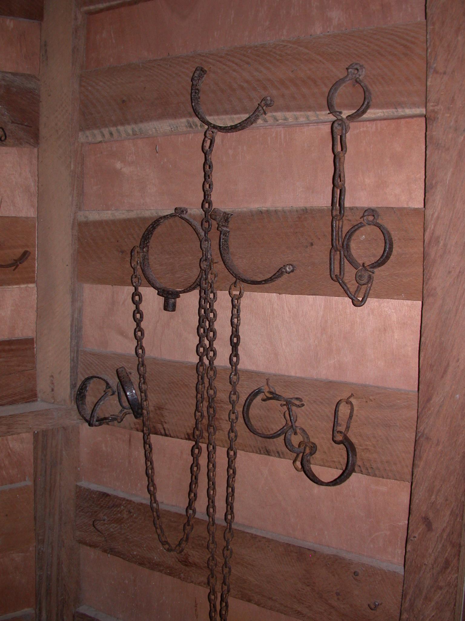 Slave Shackles, Cape Coast Slave Fort Museum, Cape Coast, Ghana