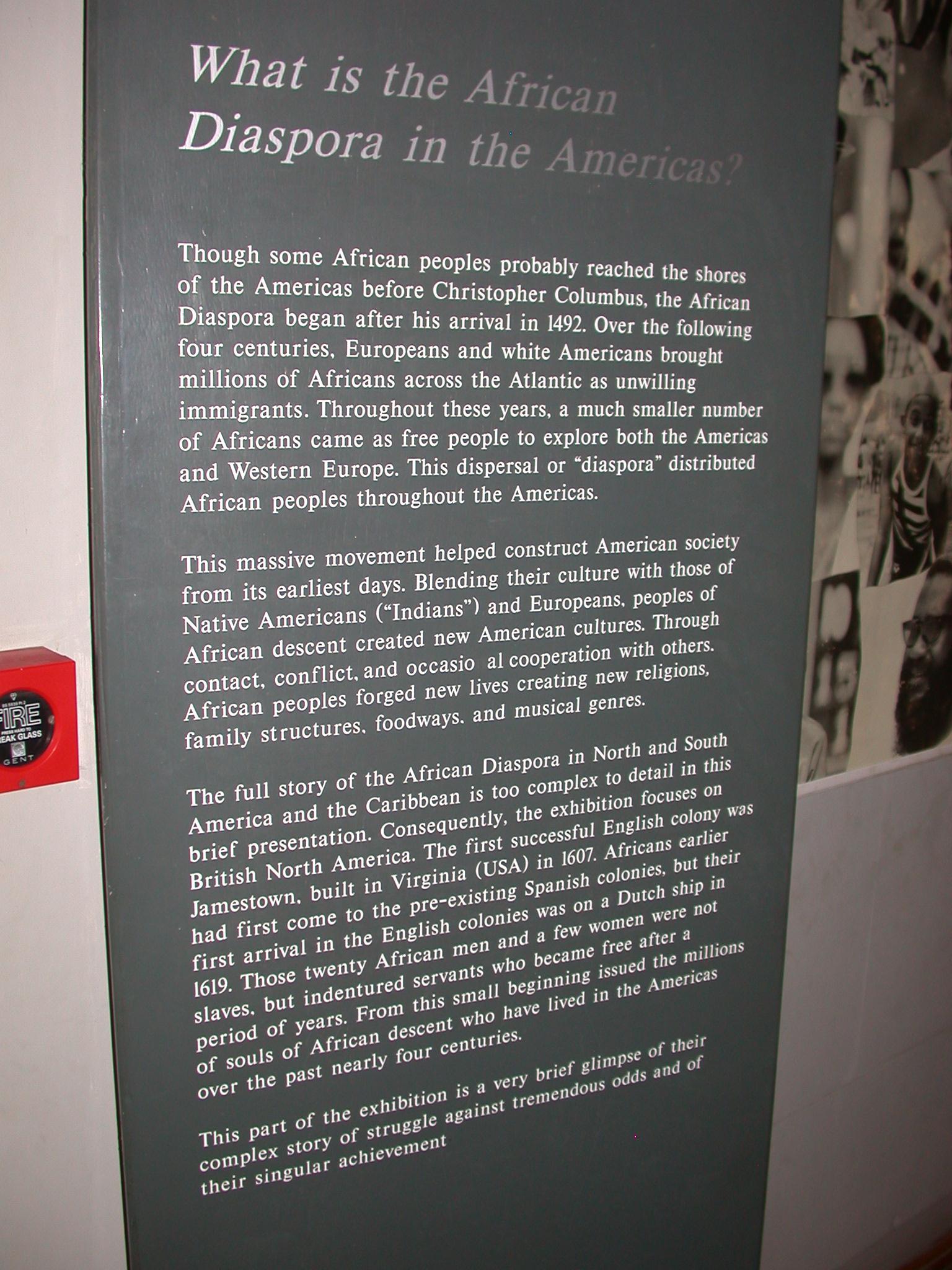 African Slave Diaspora Description, Cape Coast Slave Fort Museum, Cape Coast, Ghana