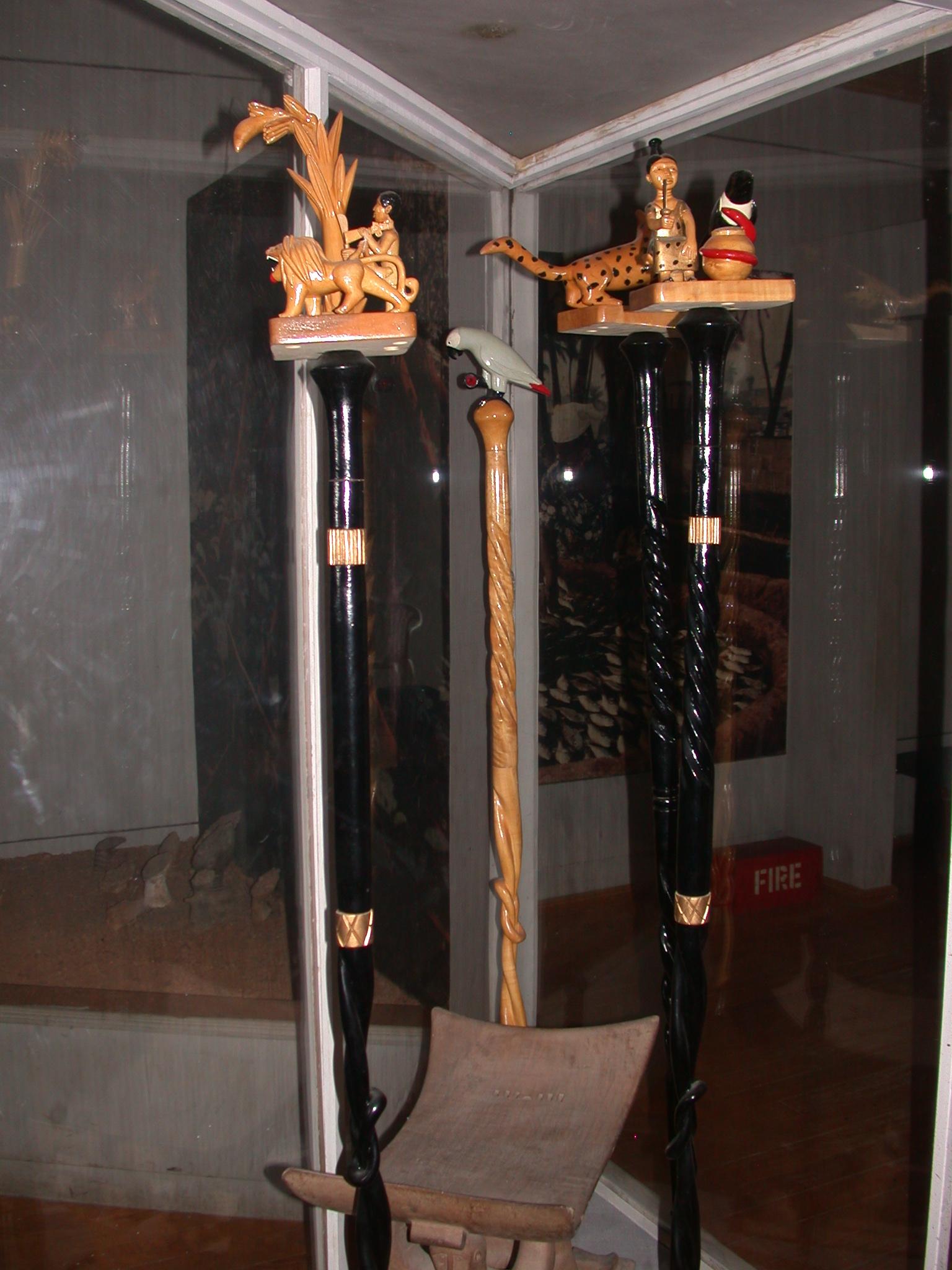 Ghana Clan Staffs, Cape Coast Slave Fort Museum, Cape Coast, Ghana