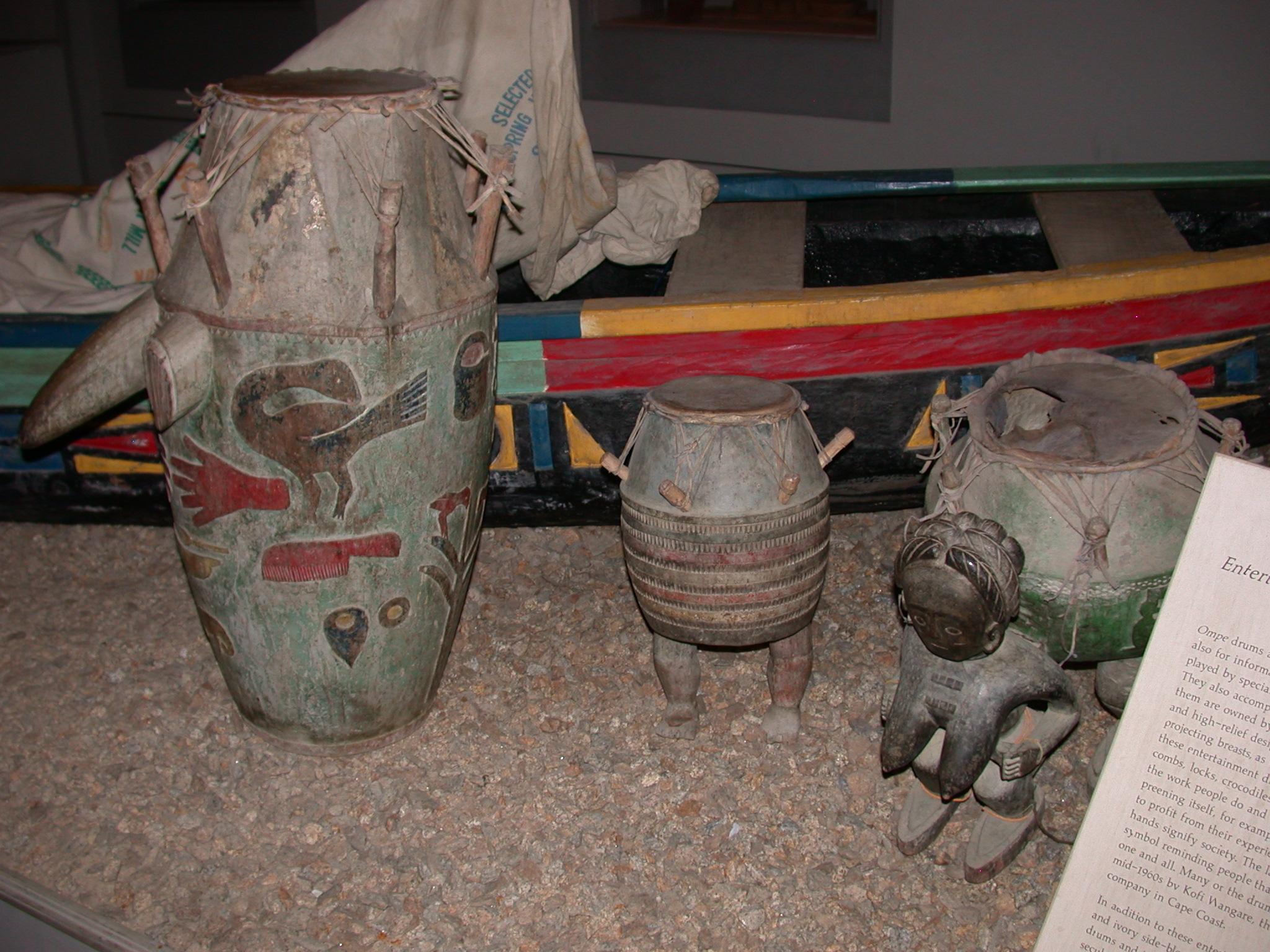 Akan Ompe Drums, Cape Coast Slave Fort Museum, Cape Coast, Ghana