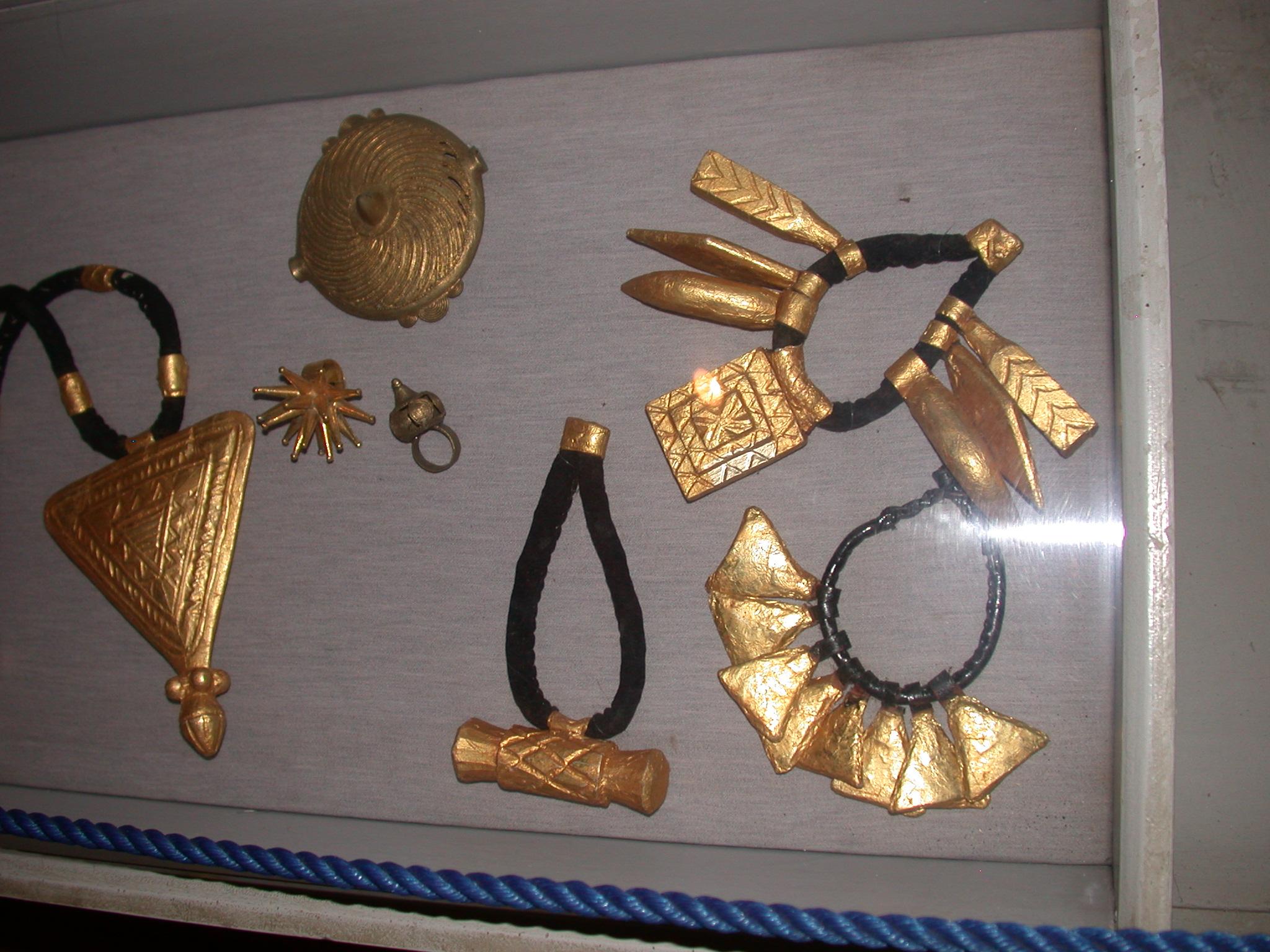 Akan Chief Gold and Gold-Leaf Regalia, Cape Coast Slave Fort Museum, Cape Coast, Ghana