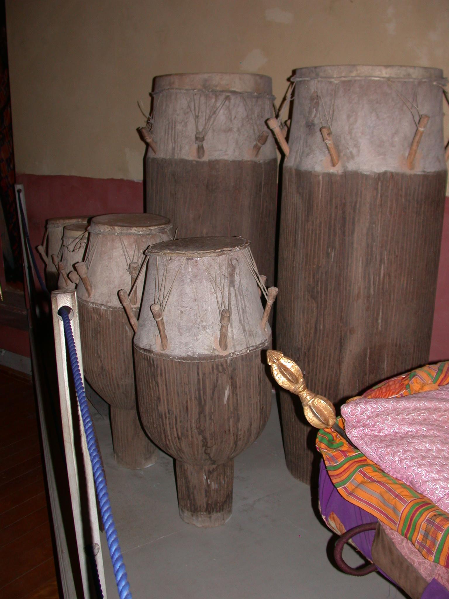 Akan Drums, Cape Coast Slave Fort Museum, Cape Coast, Ghana
