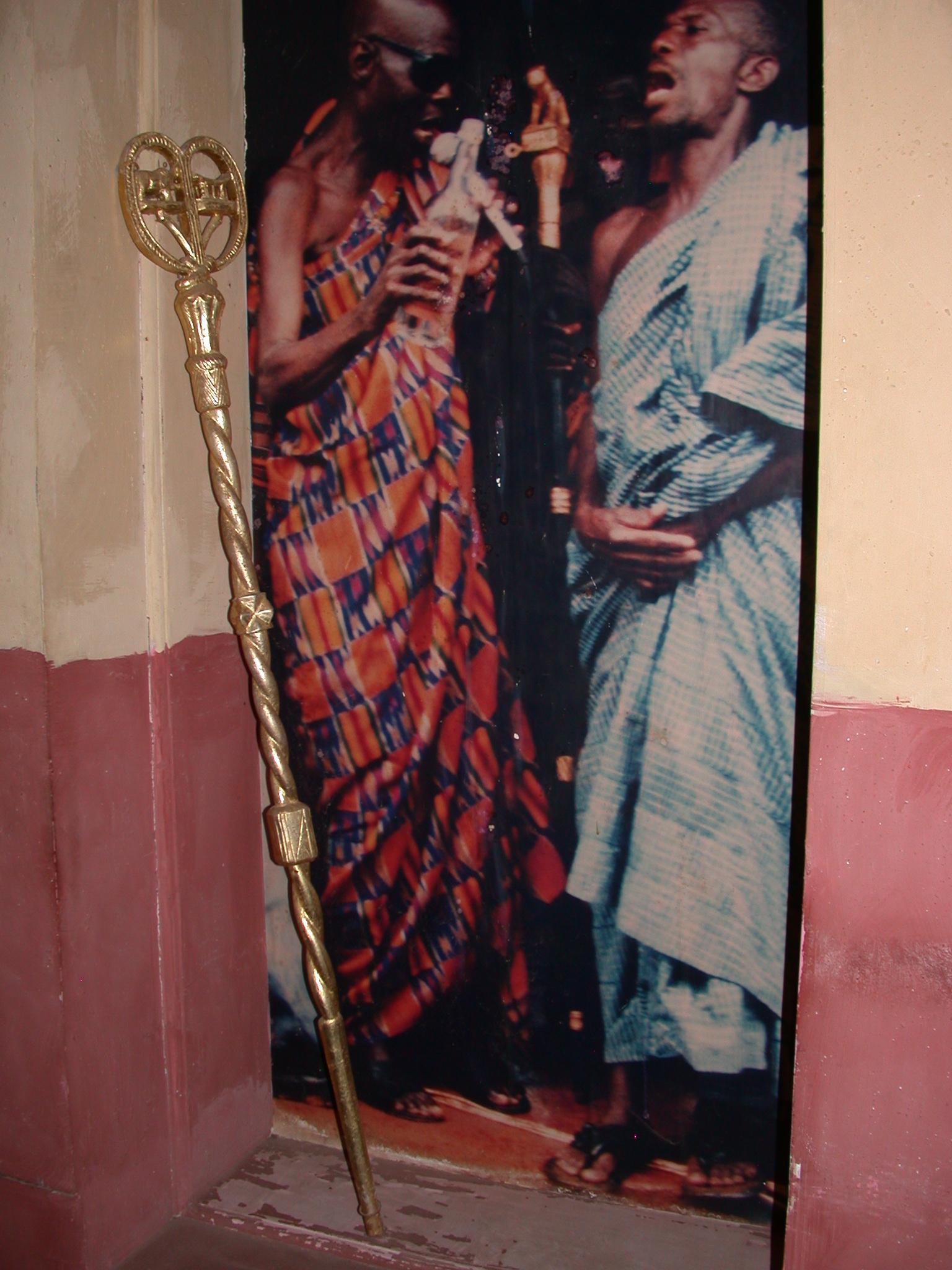 Akan Linguists Okyeame Staff, Cape Coast Slave Fort Museum, Cape Coast, Ghana