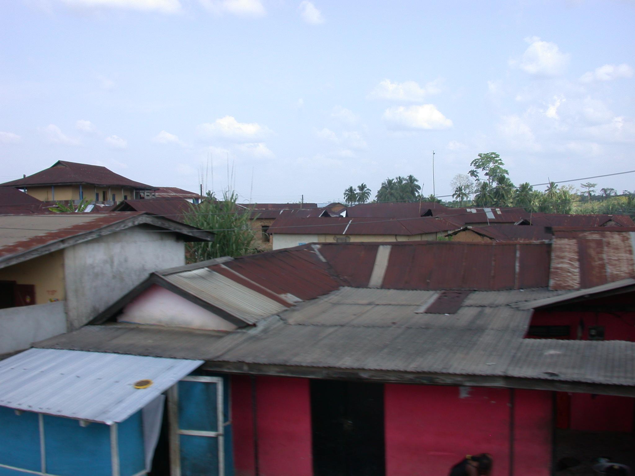 Tin Shack Town on Road From Cape Coast to Kumasi, Ghana