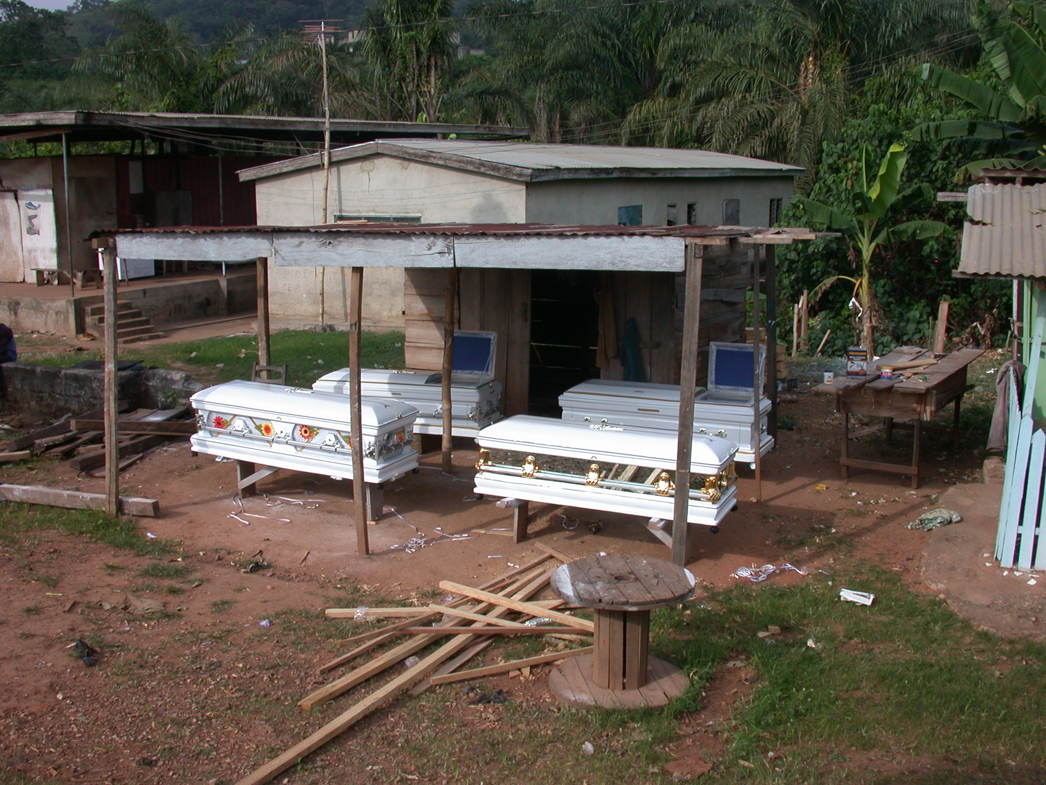 Coffin Shop on Road From Cape Coast to Kumasi, Ghana