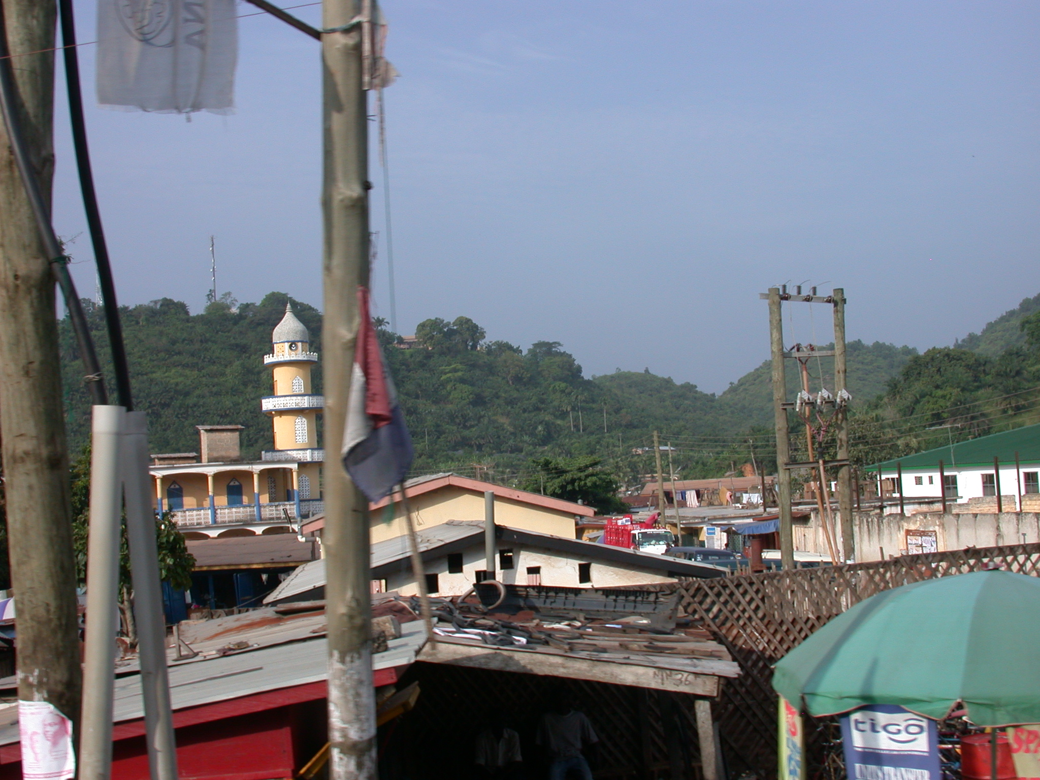 Town on Road From Cape Coast to Kumasi, Ghana