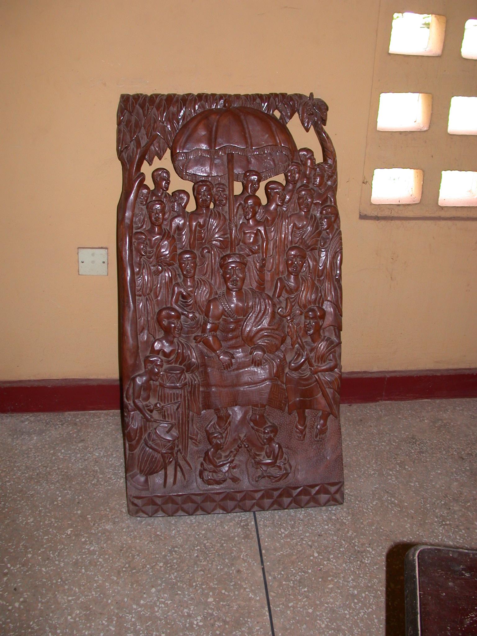 Carving of Asante King, Okomfo Anokye Sword Site, Kumasi, Ghana