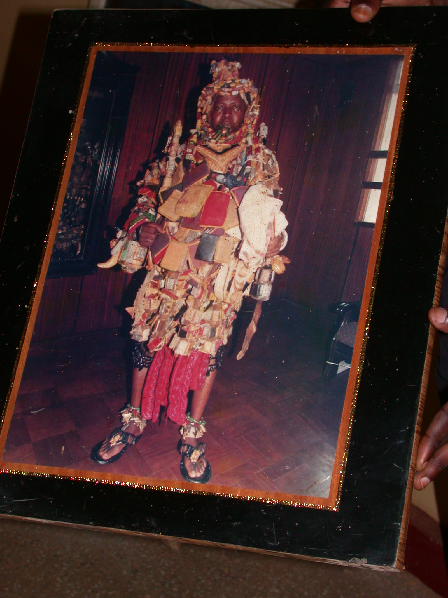 Photograph of Asante King in Magical Garment, Okomfo Anokye Sword Site, Kumasi, Ghana