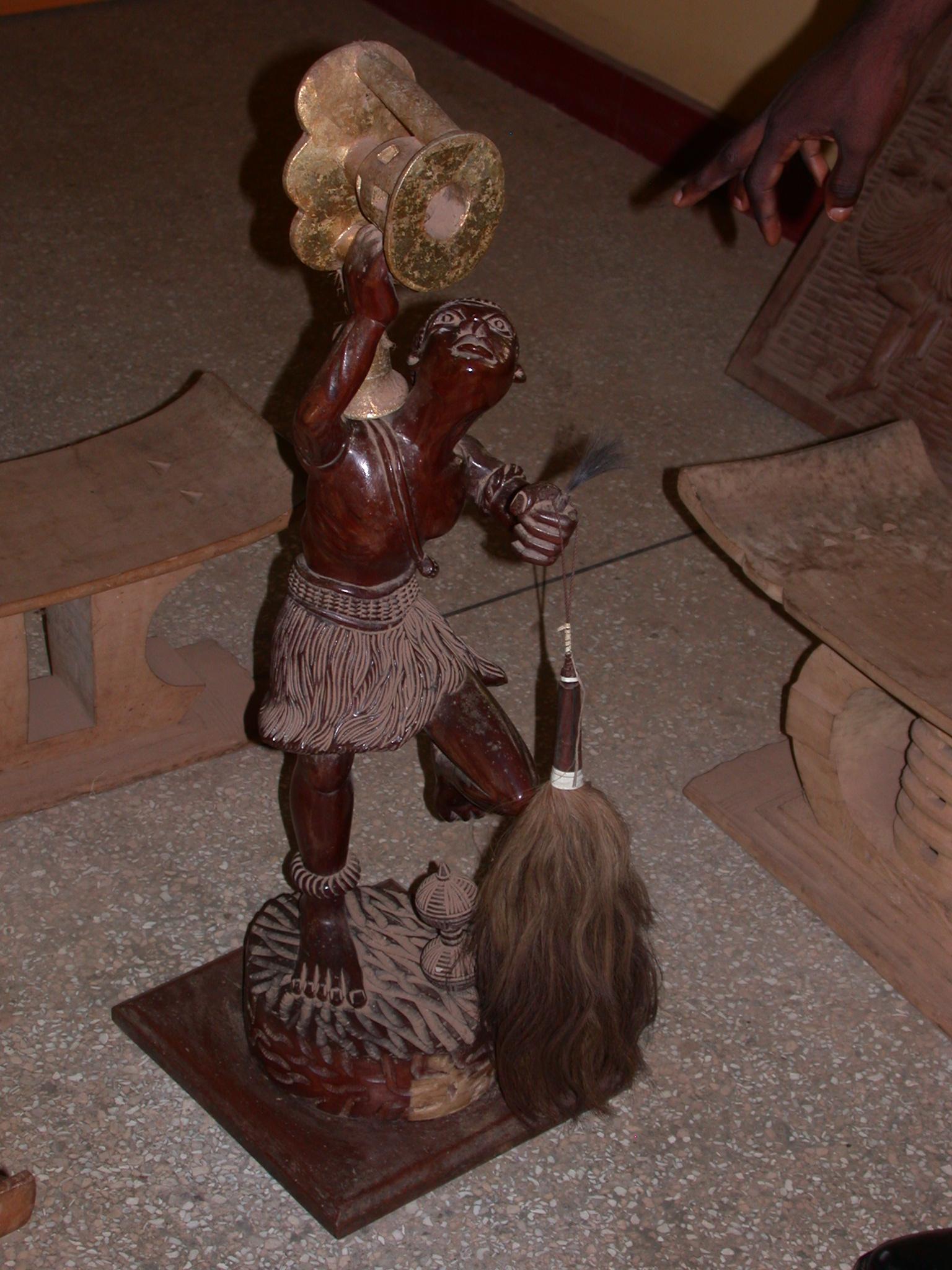 Sculpture of Okomfo Anokye Receiving the Golden Stool, Okomfo Anokye Sword Site, Kumasi, Ghana
