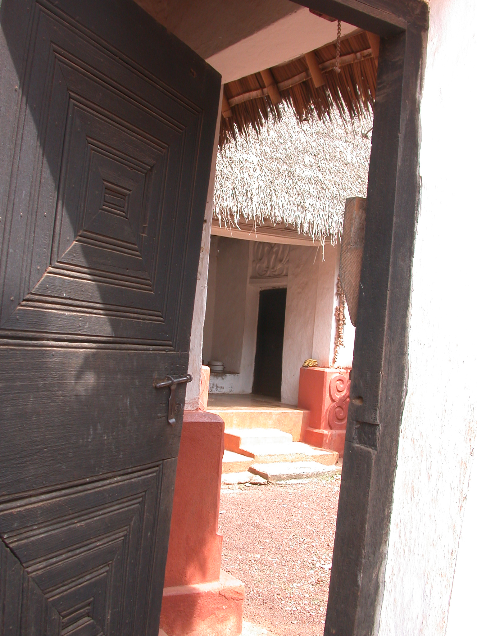 Entrance to Asante Traditional Shrine at Ejisu-Besease, Ghana