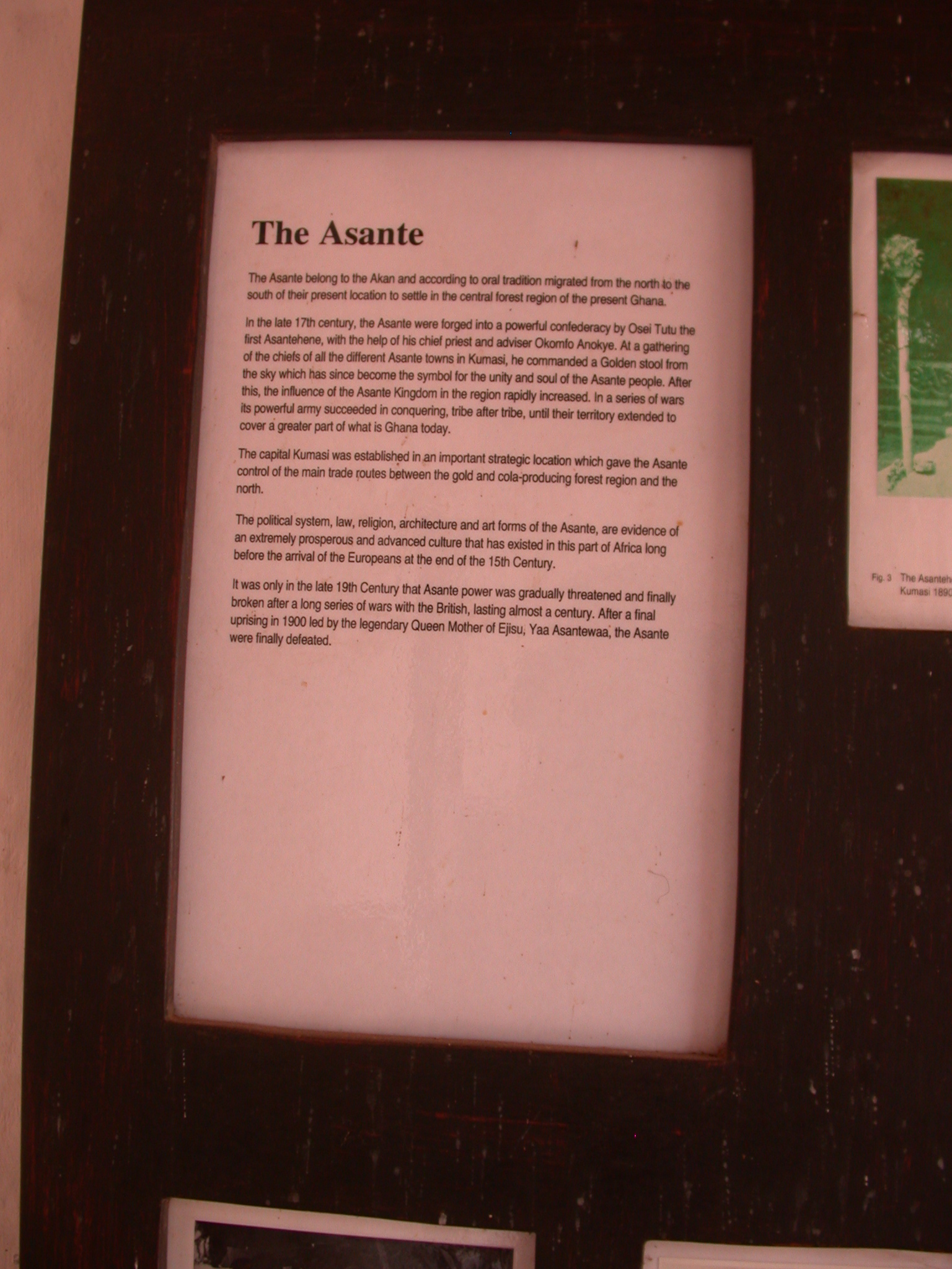 Description of Asante, Asante Traditional Shrine at Ejisu-Besease, Ghana