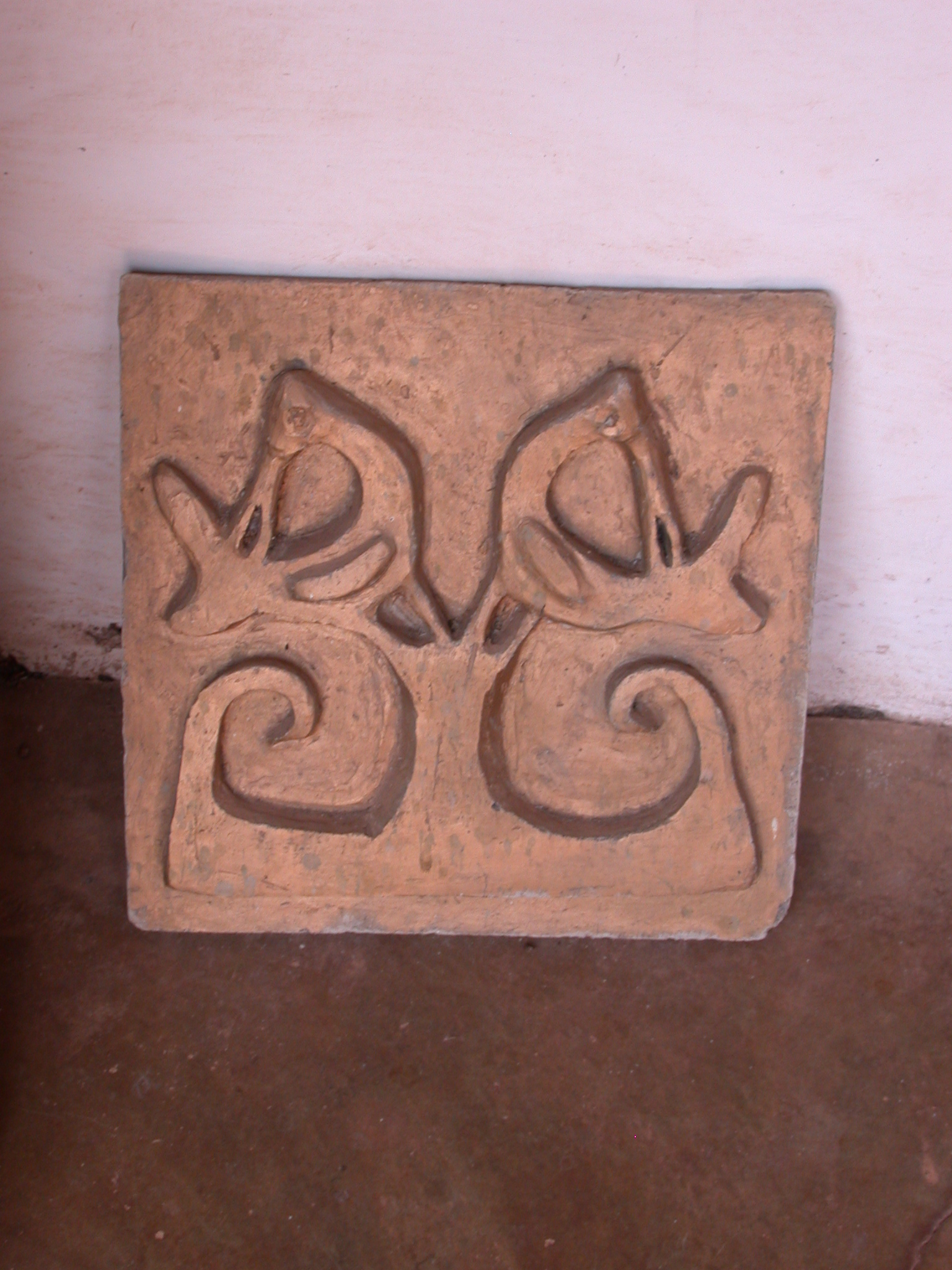 Asante Traditional Shrine Design Incorporating Birds, Asante Traditional Shrine at Ejisu-Besease, Ghana