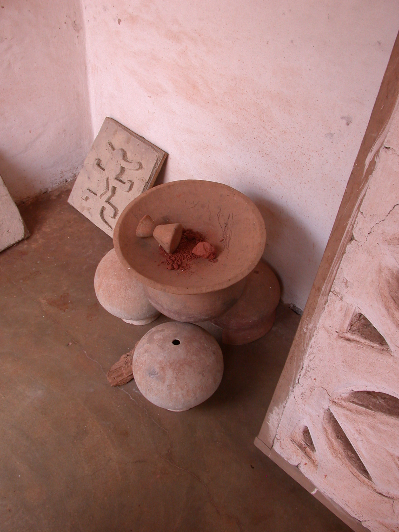 Asante Traditional Mortar and Pestle, Asante Traditional Shrine at Ejisu-Besease, Ghana