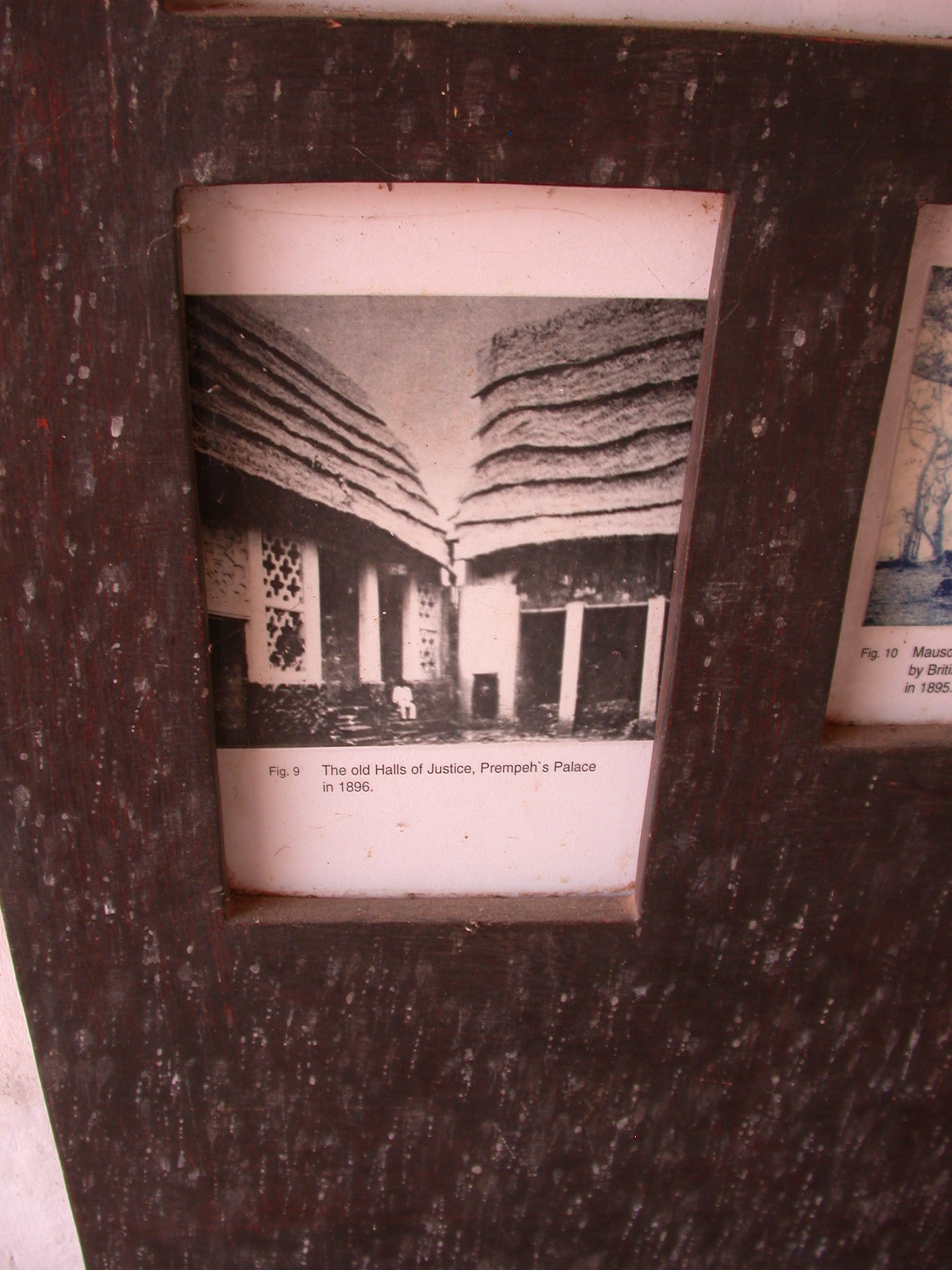 Photograph of Old Halls of Justice, Prempeh Palace in 1896, Asante Traditional Shrine at Ejisu-Besease, Ghana