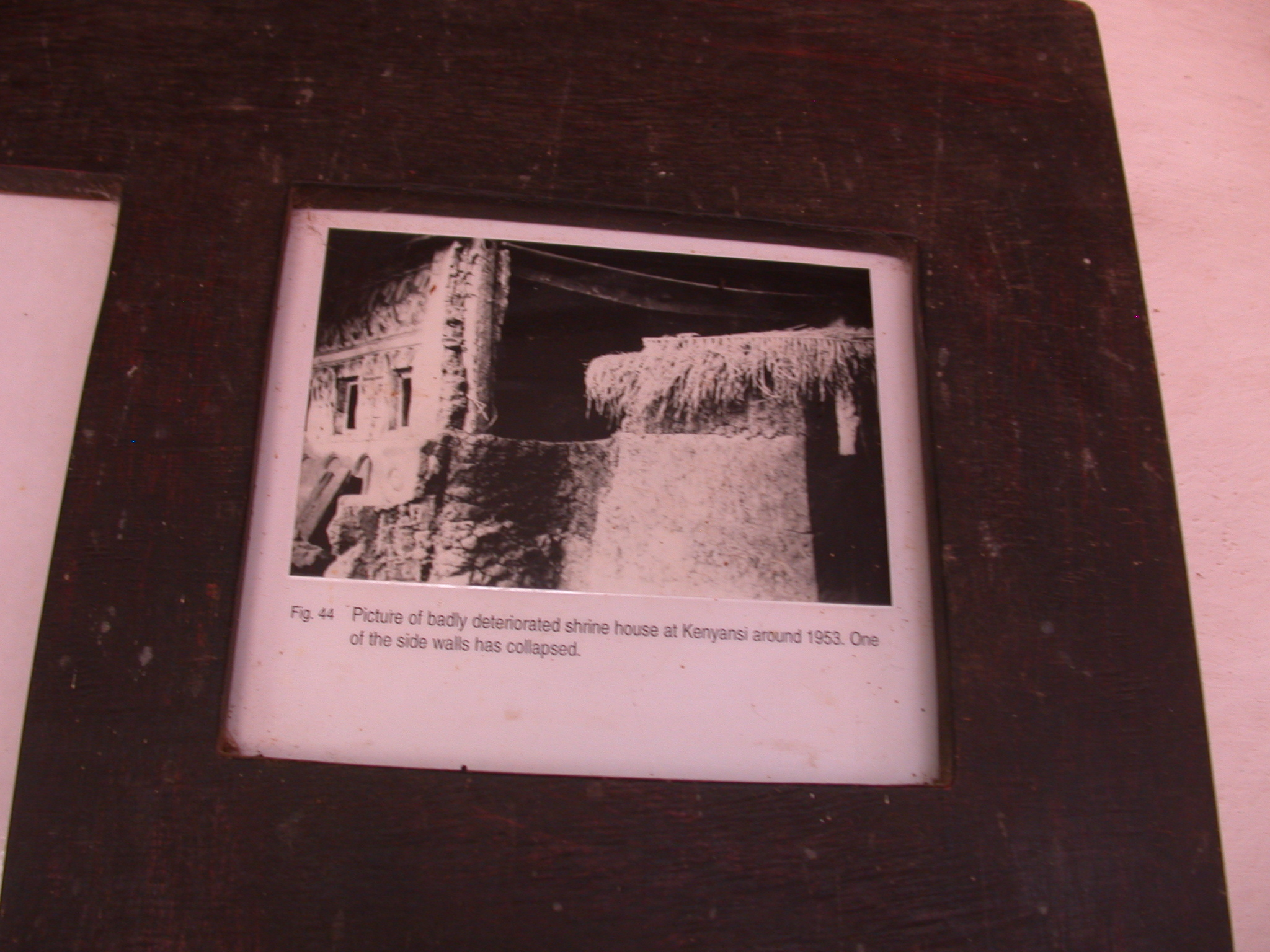 Photograph of Deteriorated Kenyansi Shrine Around 1953, Asante Traditional Shrine at Ejisu-Besease, Ghana