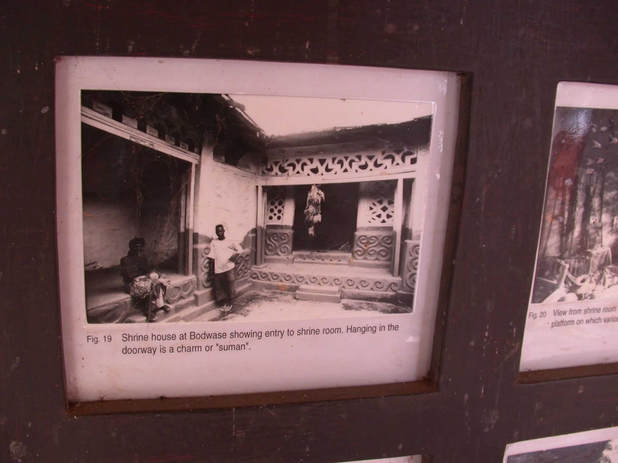Photograph of Bodwase Shrine House With Suman Charm Hanging in Dooryway of Shrine Room, Asante Traditional Shrine at Ejisu-Besease, Ghana
