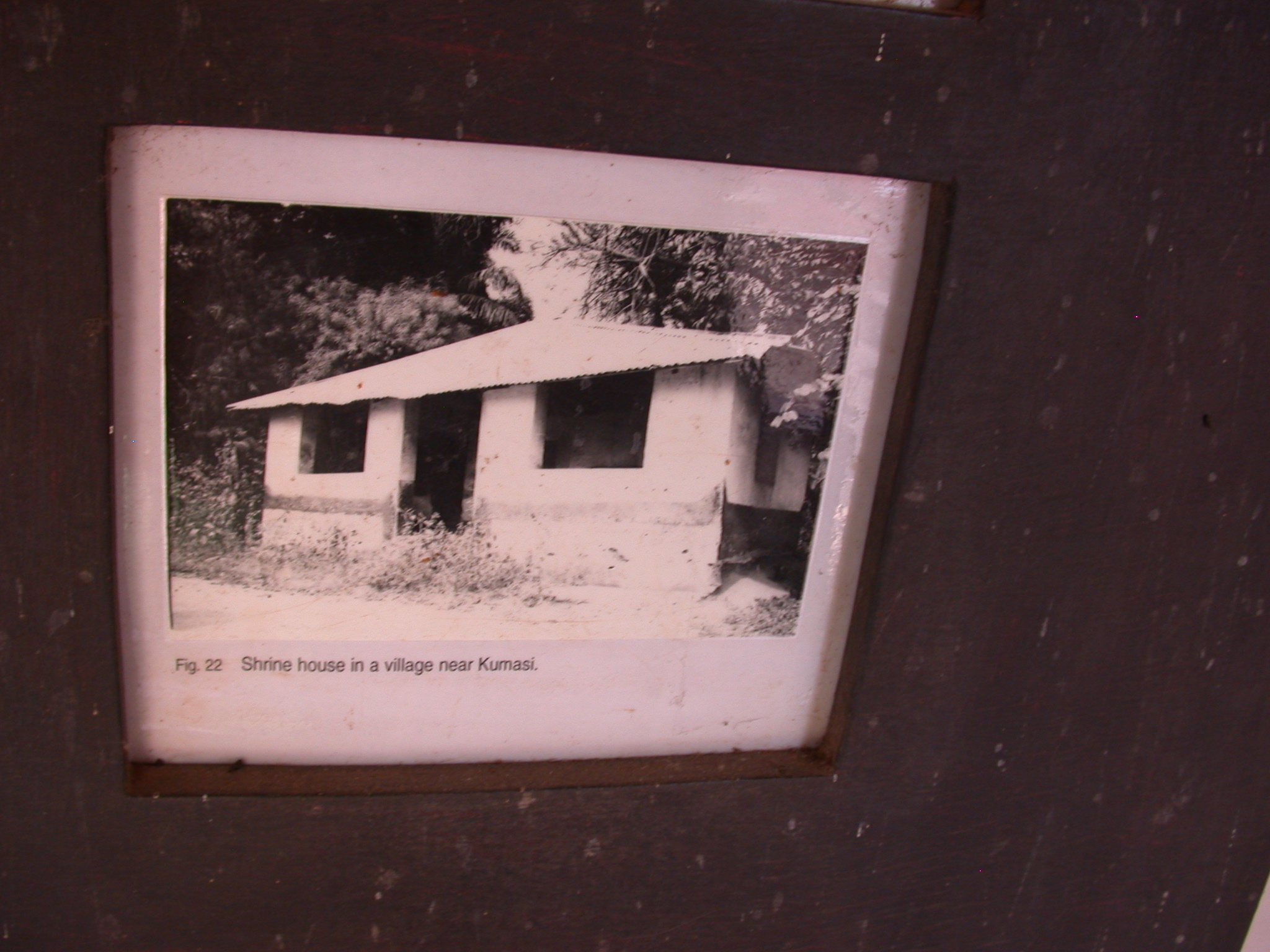 Photograph of Shrine House in Village Near Kumasi, Asante Traditional Shrine at Ejisu-Besease, Ghana