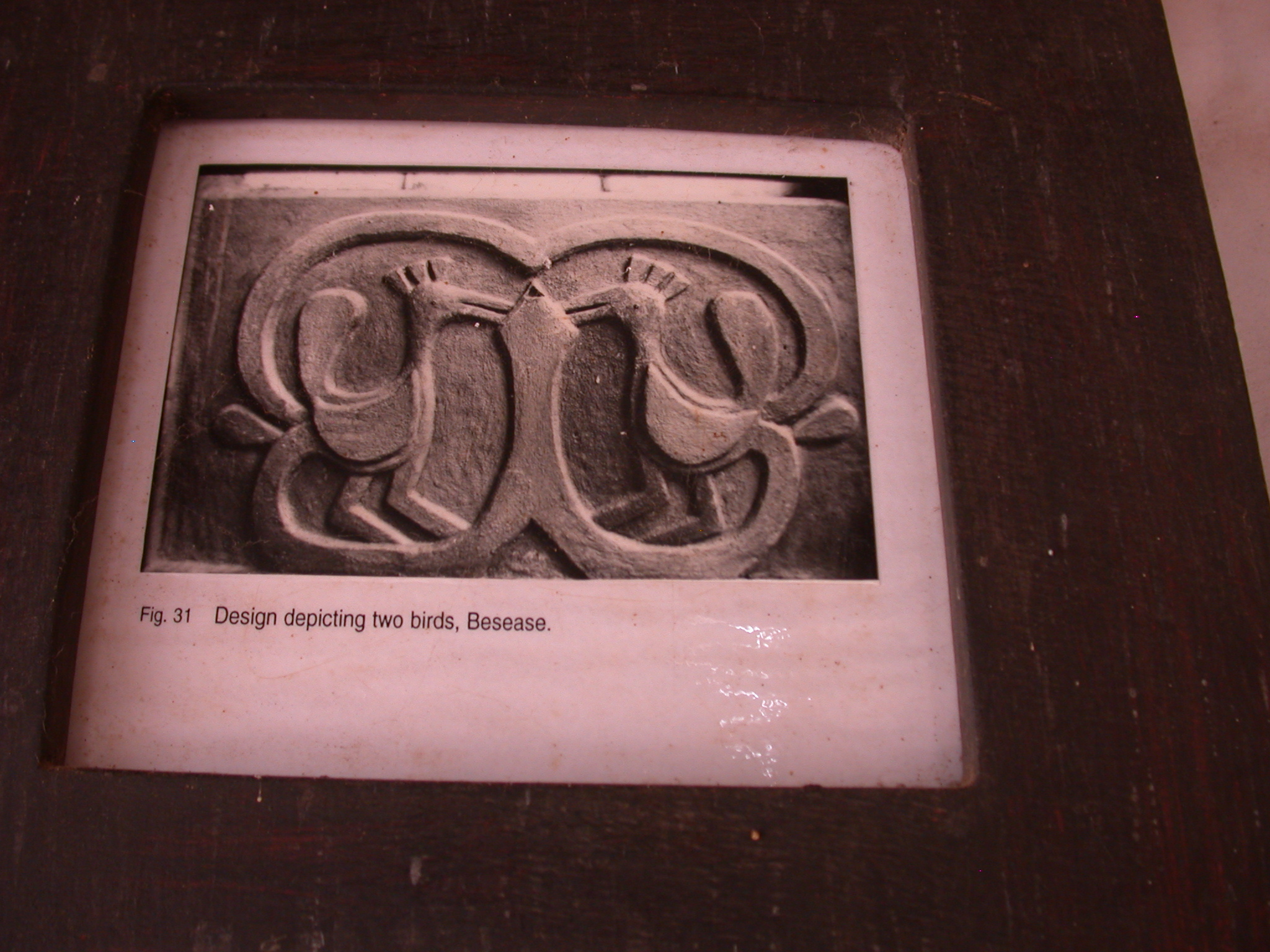 Photograph of Design Depicting Two Birds at Besease Shrine, Asante Traditional Shrine at Ejisu-Besease, Ghana