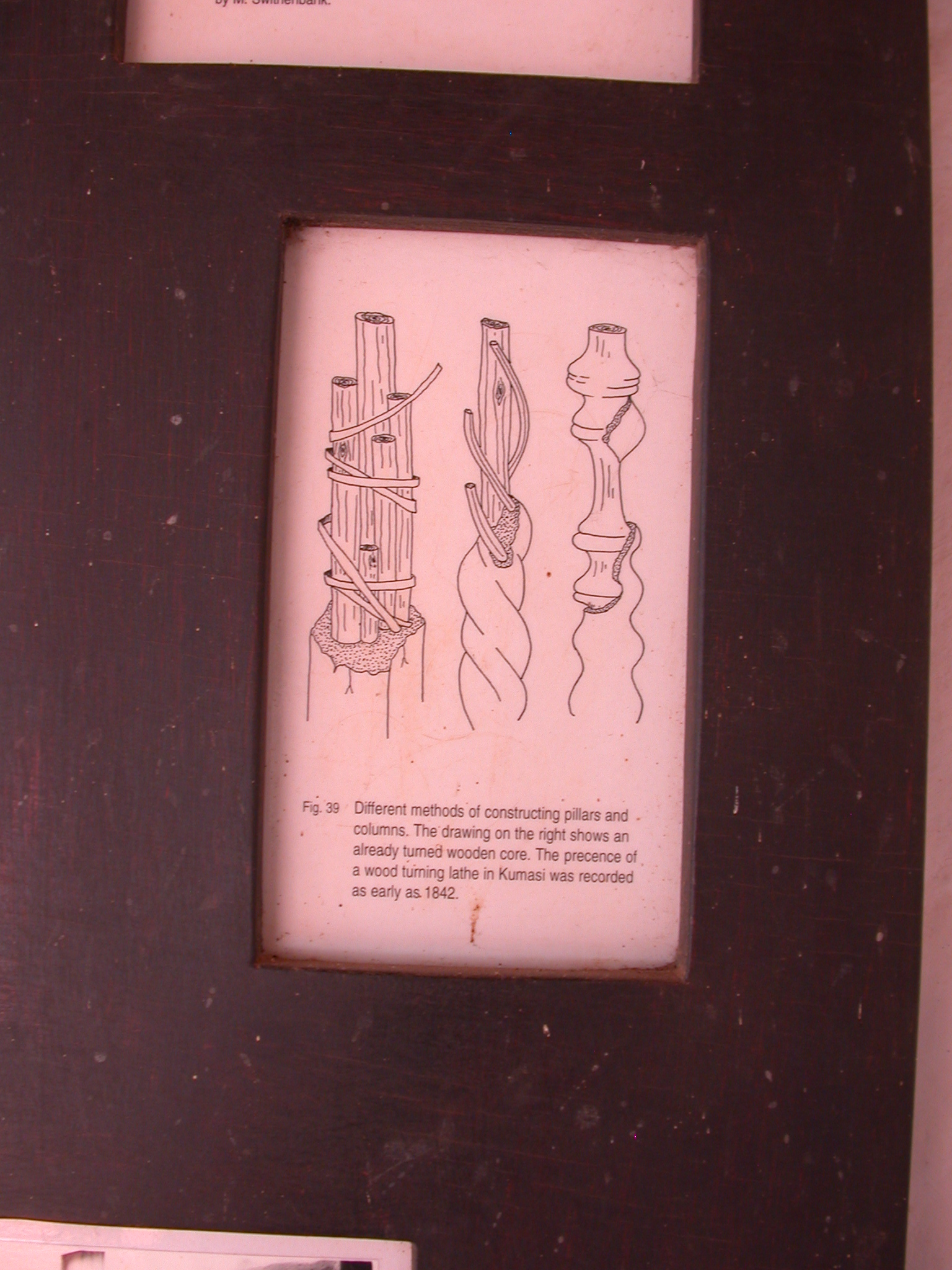 Diagram of Pillar Construction, Asante Traditional Shrine at Ejisu-Besease, Ghana