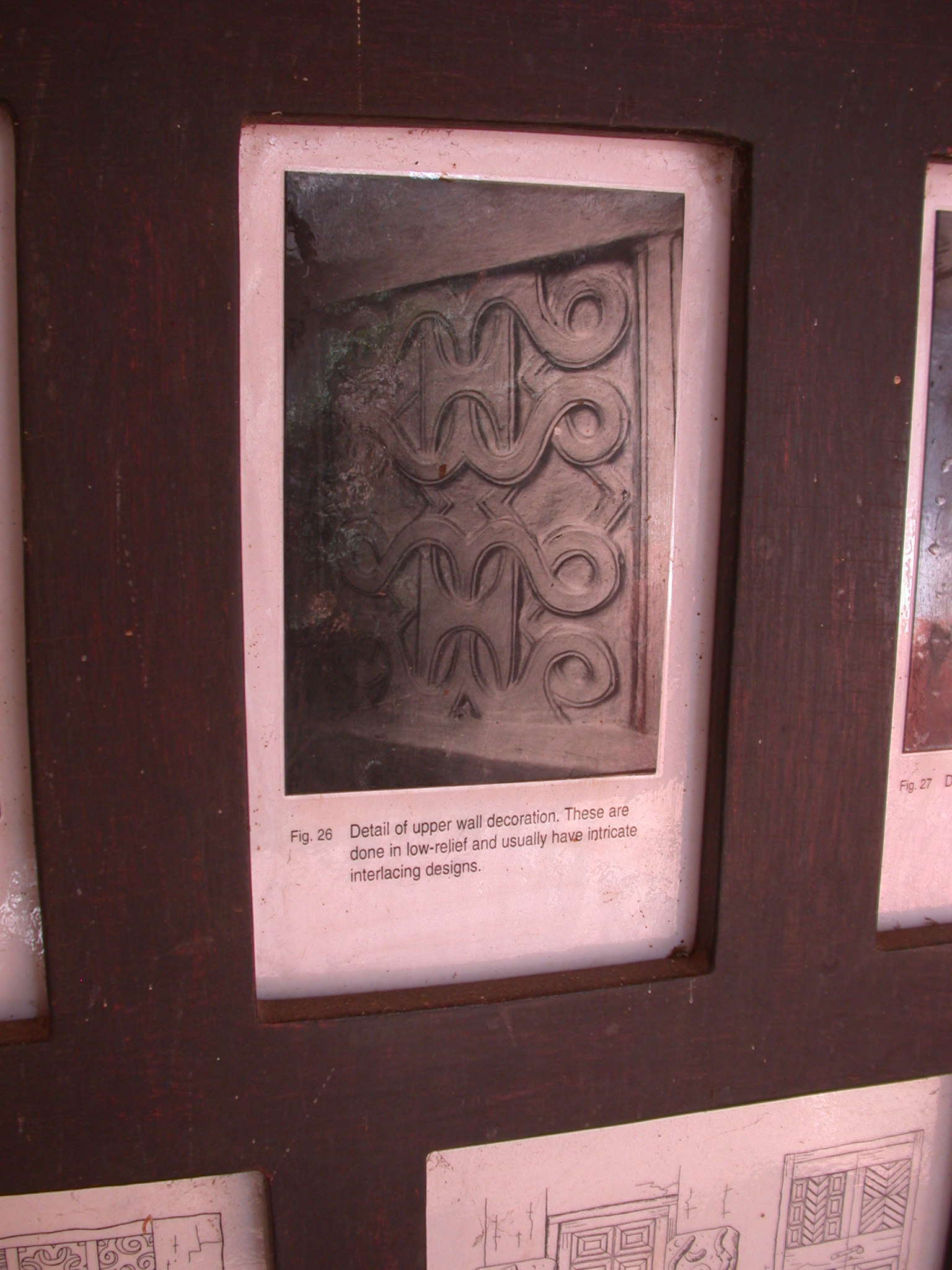 Photograph of Upper Wall Decoration at Adwinase Shrine, Asante Traditional Shrine at Ejisu-Besease, Ghana