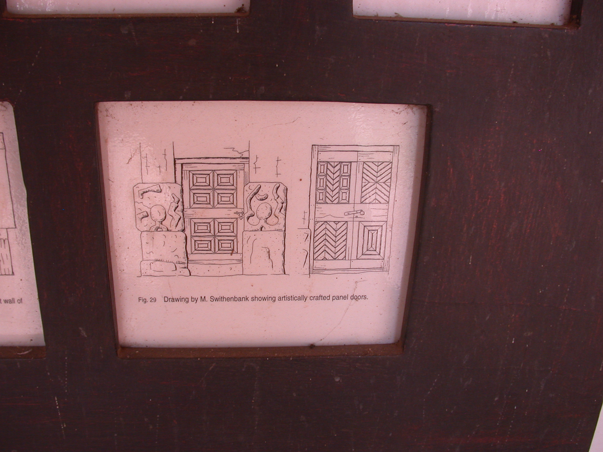 Drawing Showing Artistically Crafted Panel Doors, Asante Traditional Shrine at Ejisu-Besease, Ghana