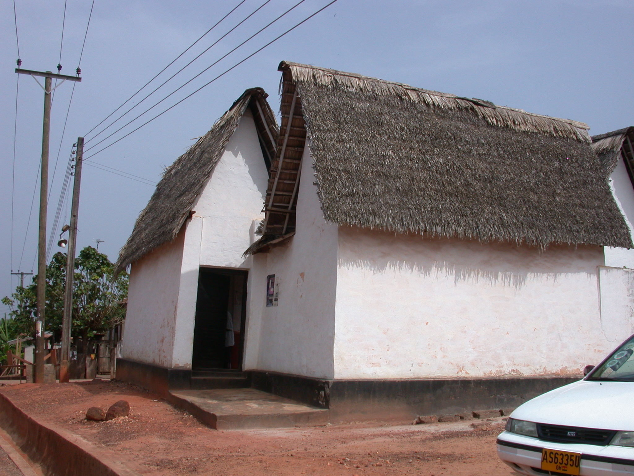 Exterior View of Asante Traditional Shrine at Ejisu-Besease, Ghana