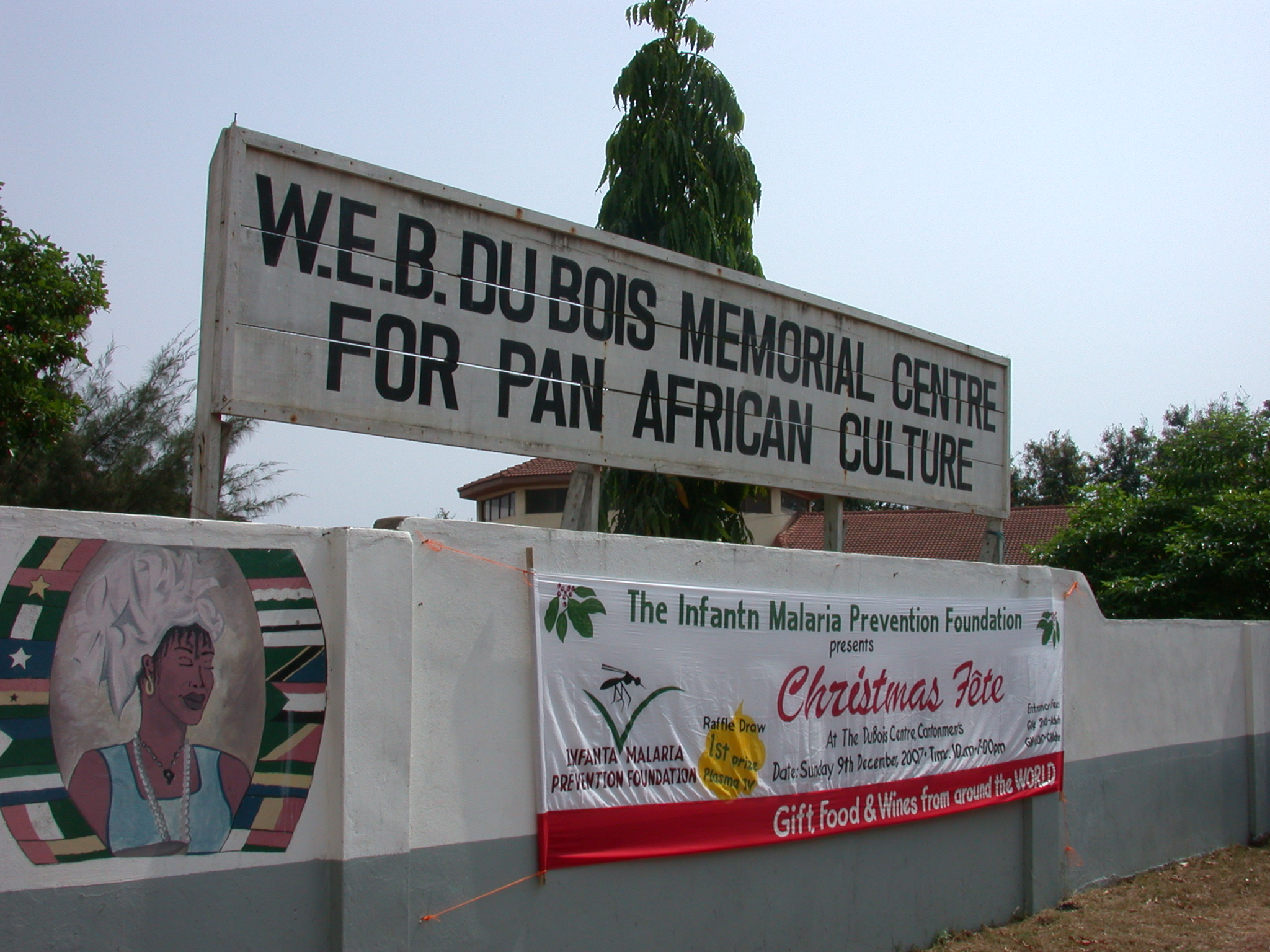 Sign for WEB DuBois Memorial Centre for Pan African Culture, Accra, Ghana