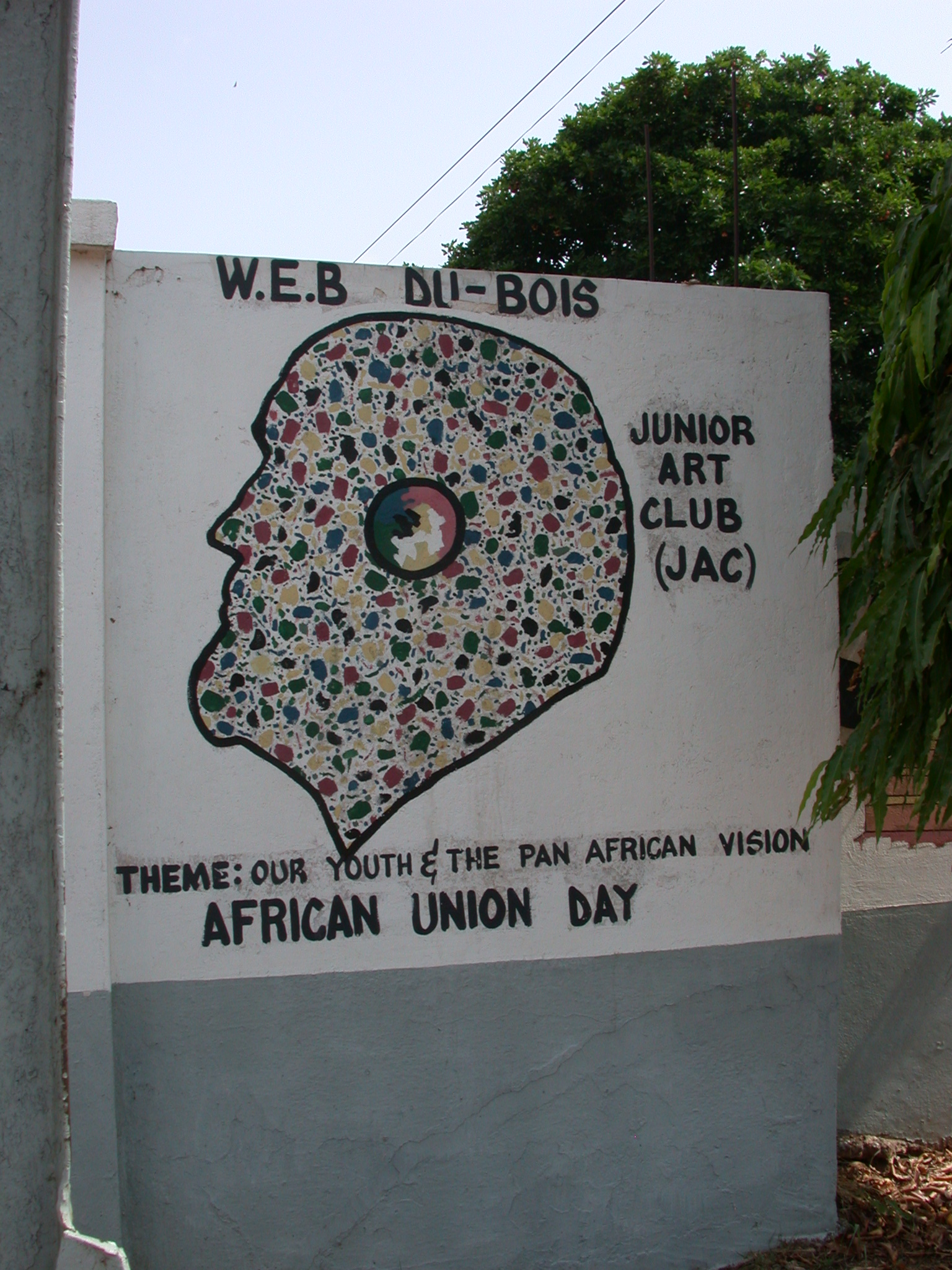 Sign From WEB DuBois Junior Art Club Commemorating African Union Day, WEB DuBois Memorial Centre for Pan African Culture, Accra, Ghana