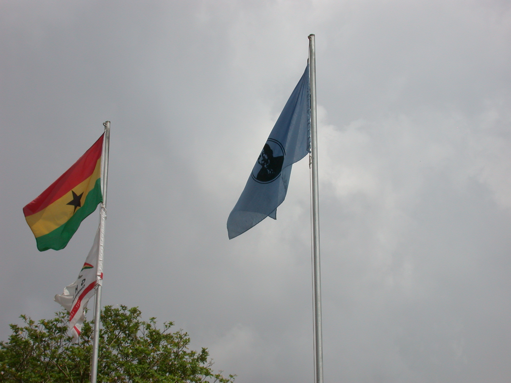 Flags Flying at WEB DuBois Memorial Centre for Pan African Culture, Accra, Ghana