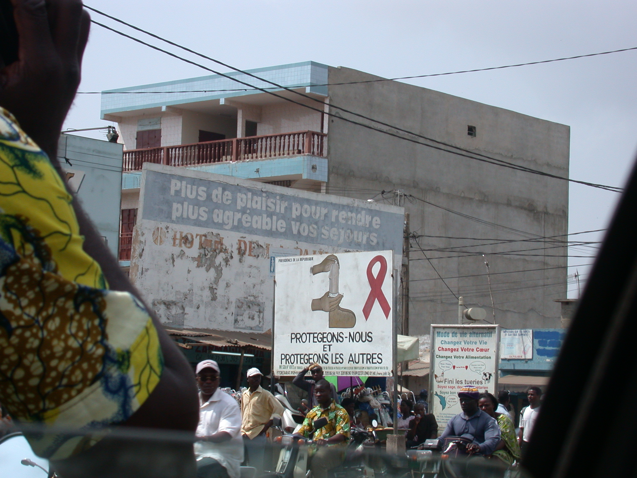 Protect Ourselves and Protect Others, AIDS Prevention Campaign Billboard, Lome, Togo
