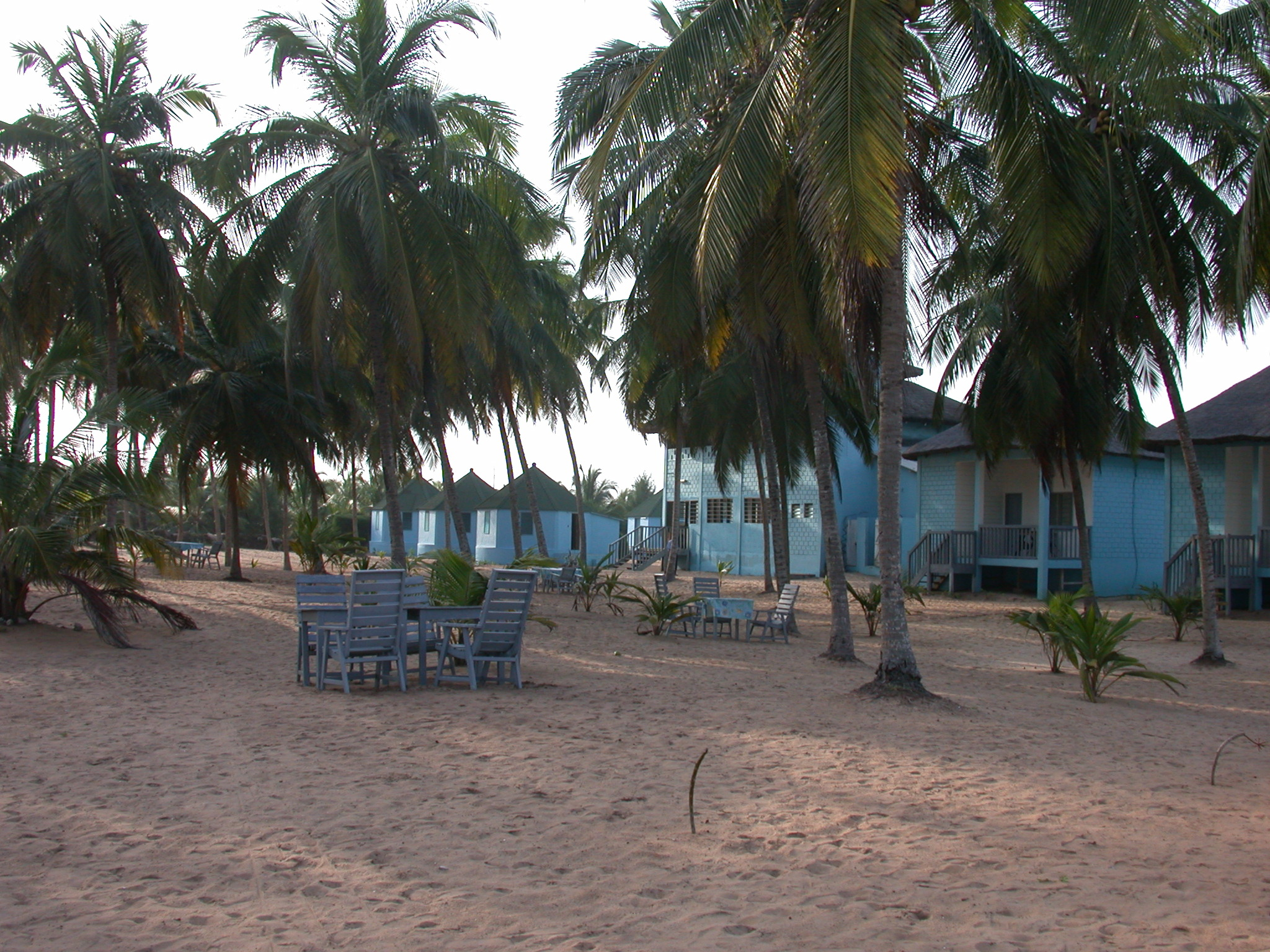 Beach, Cabins, and Lodge, Hotel Jardin Brasilien, Ouidah, Benin