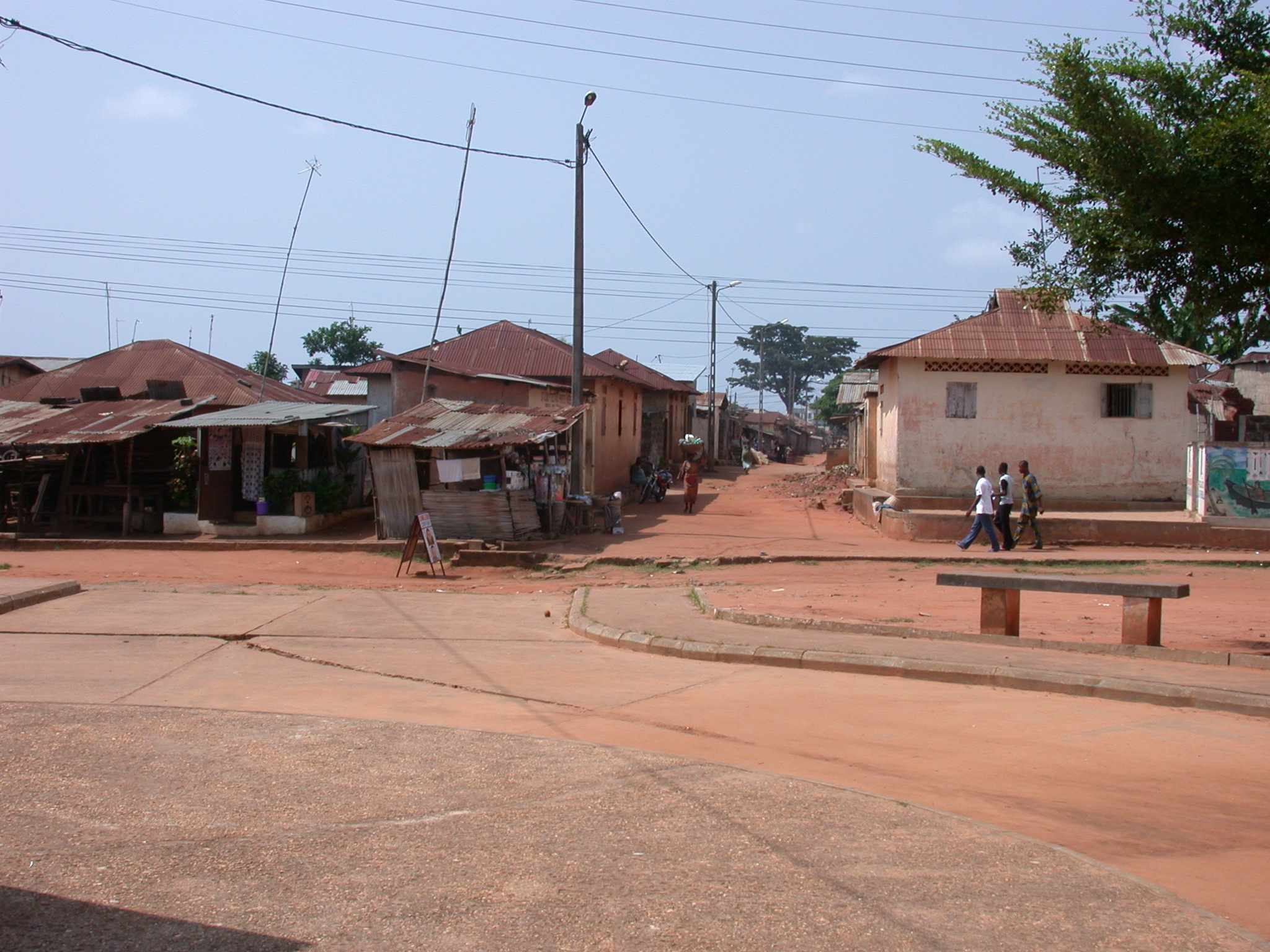 Paved Road and Shacks, Ouidah, Benin