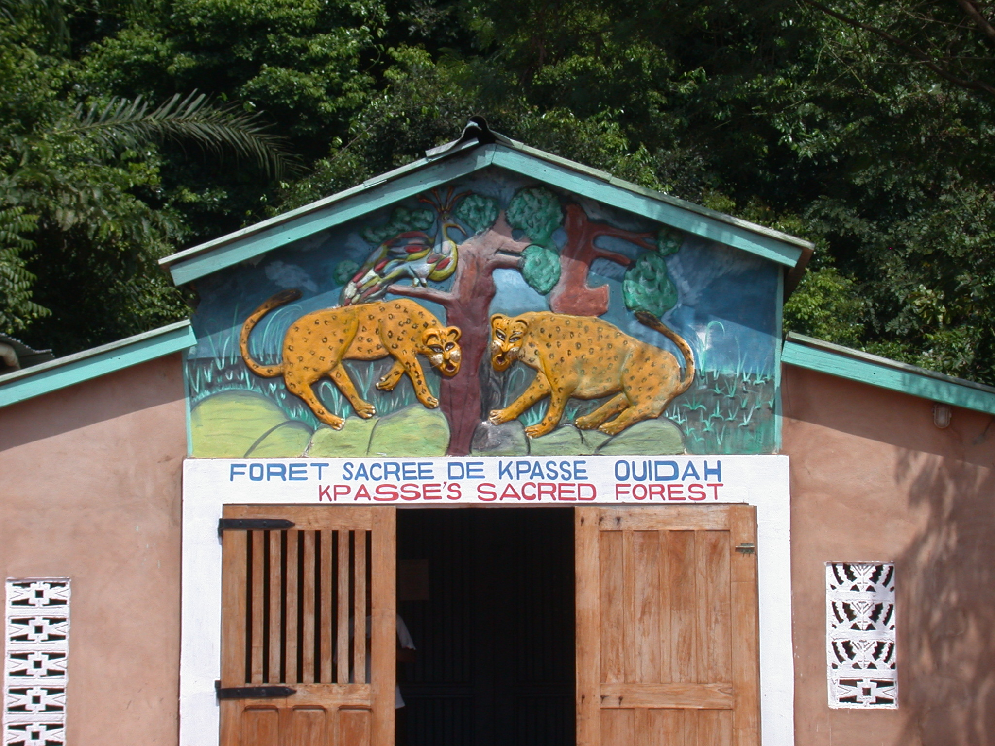 Entrance of Kpasse Sacred Forest, Ouidah, Benin
